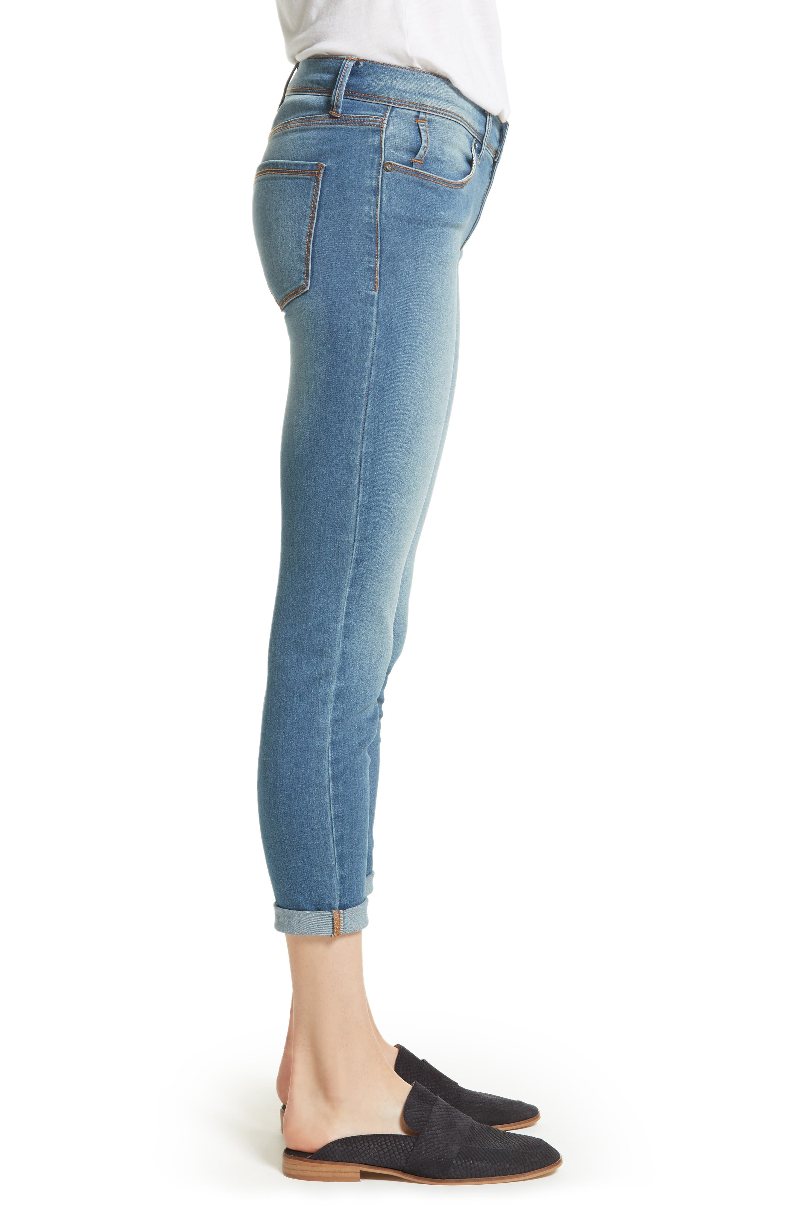 Gummy High Waist Jeans,                             Alternate thumbnail 4, color,
