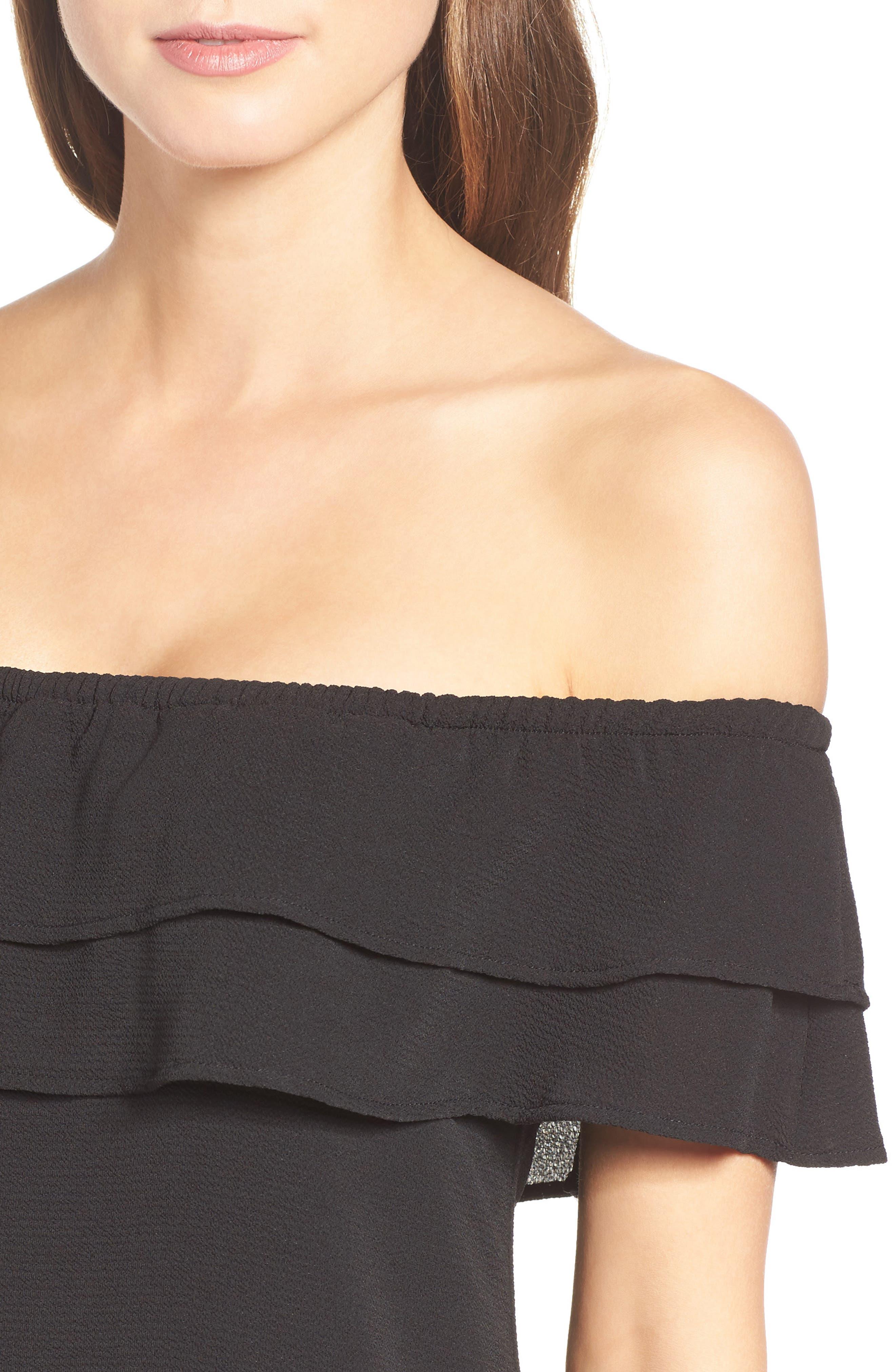 Off the Shoulder Ruffle Dress,                             Alternate thumbnail 29, color,