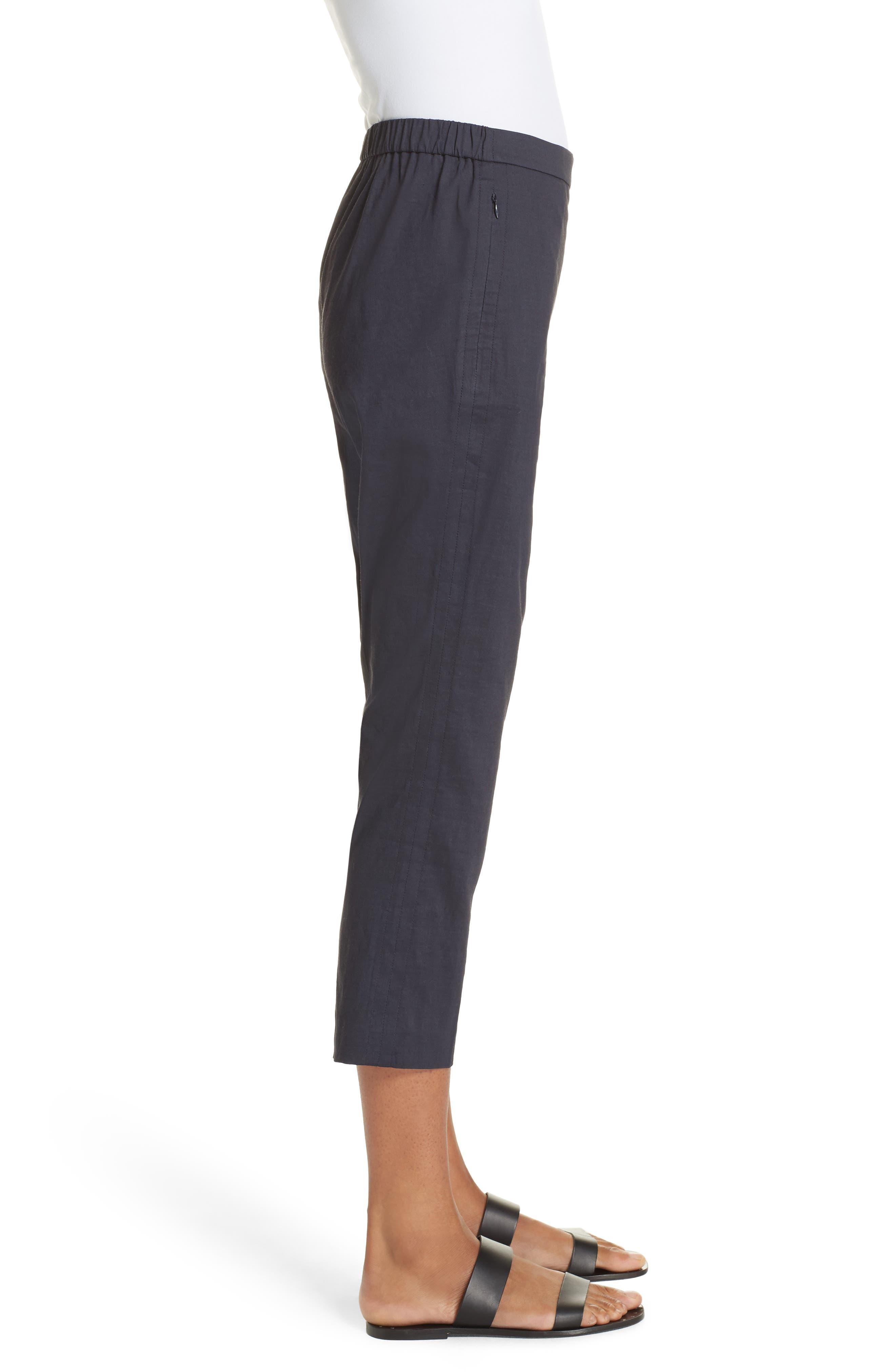 Pull-On Linen Blend Pants,                             Alternate thumbnail 9, color,