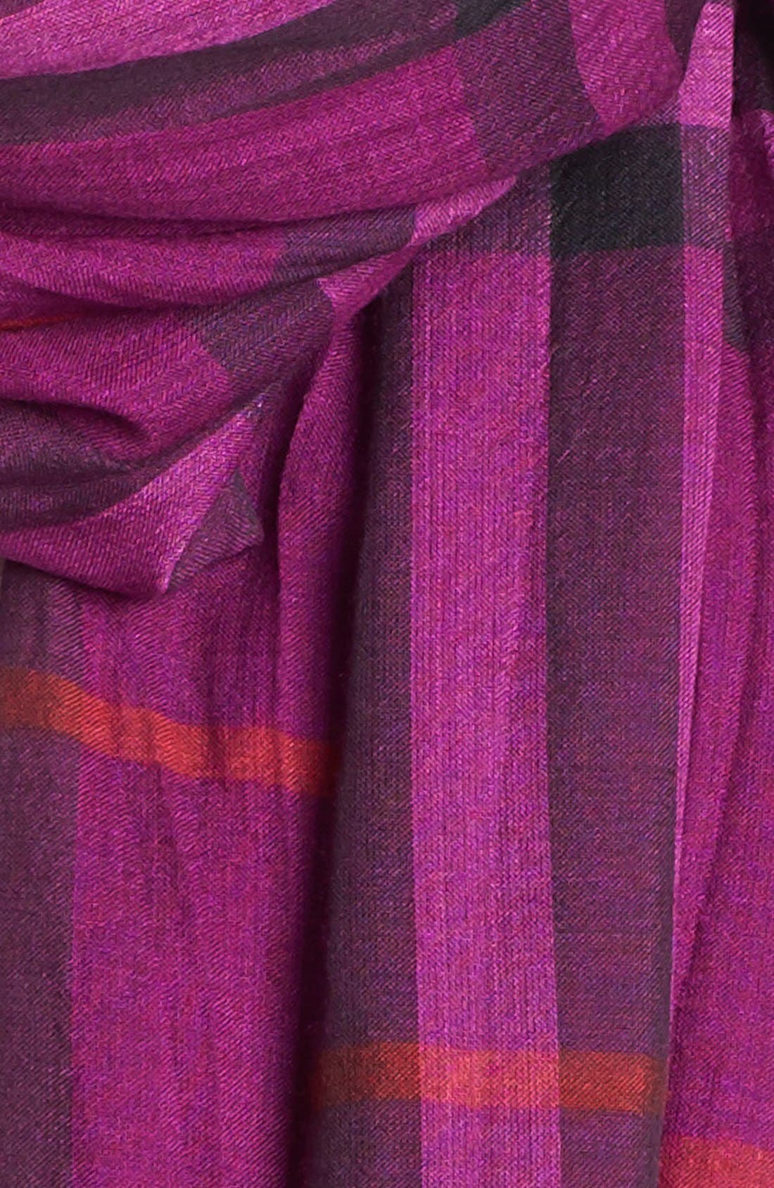 Giant Check Print Wool & Silk Scarf,                             Alternate thumbnail 107, color,