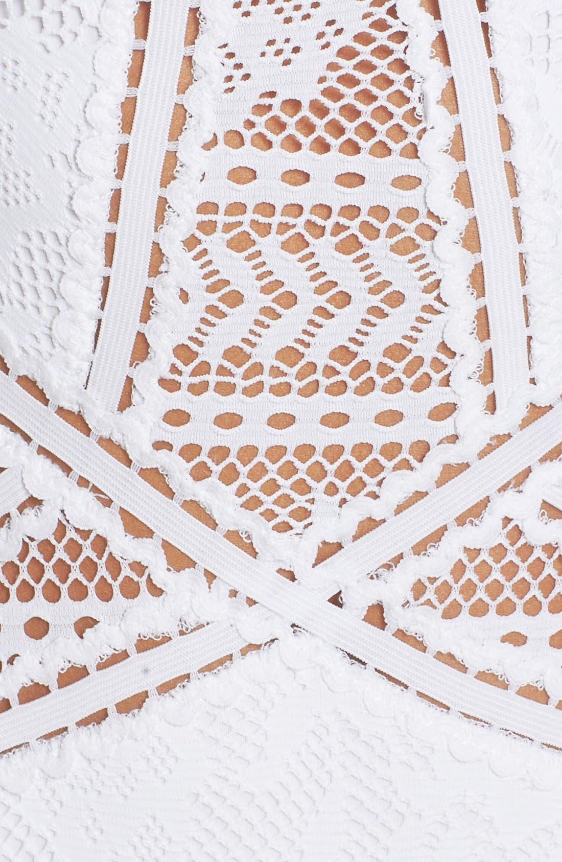 Prairie Rose Crochet One-Piece Swimsuit,                             Alternate thumbnail 12, color,