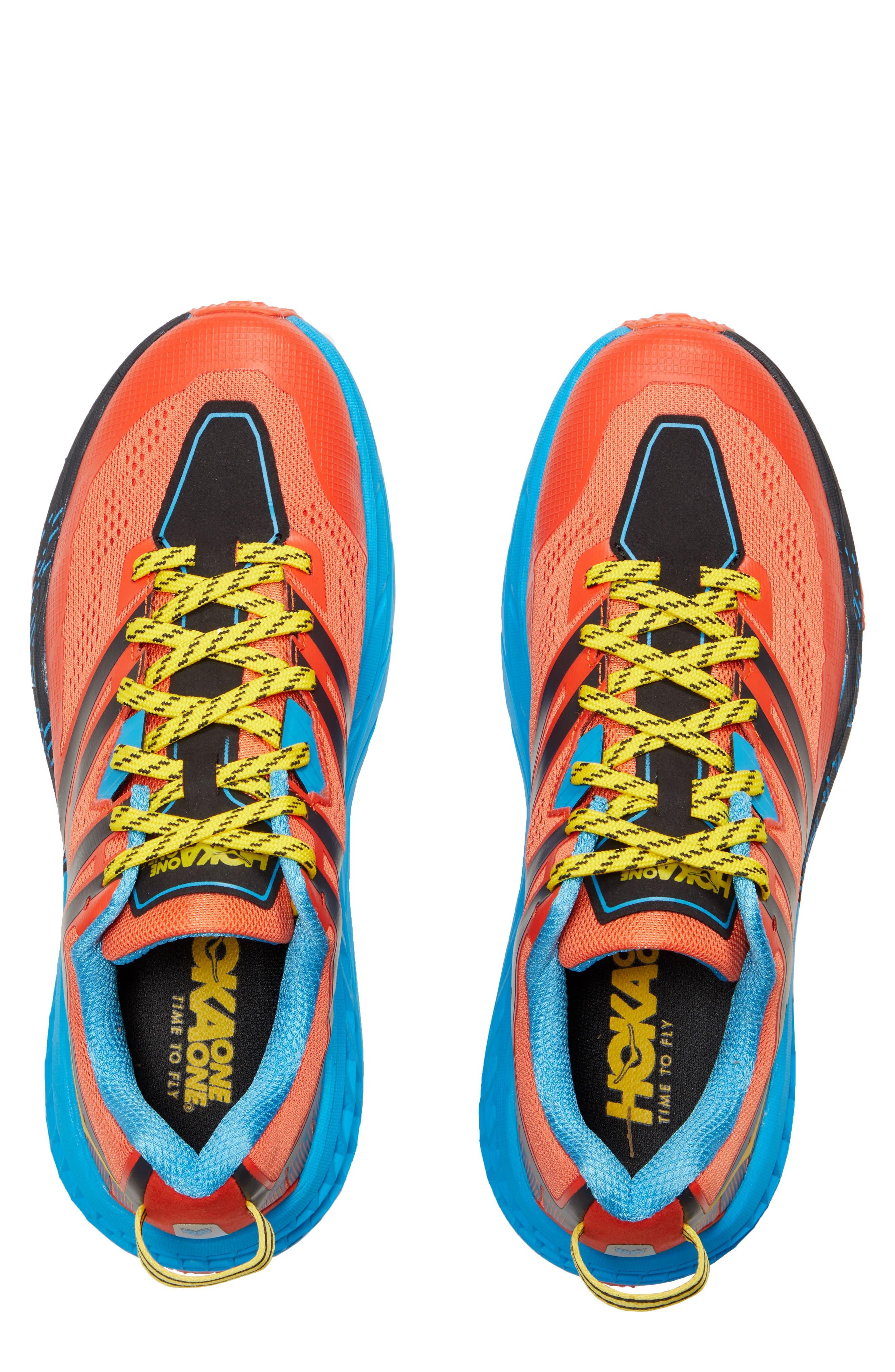 Speedgoat 3 Trail Running Shoe,                             Alternate thumbnail 4, color,                             NASTURTIUM/ SPICY ORANGE