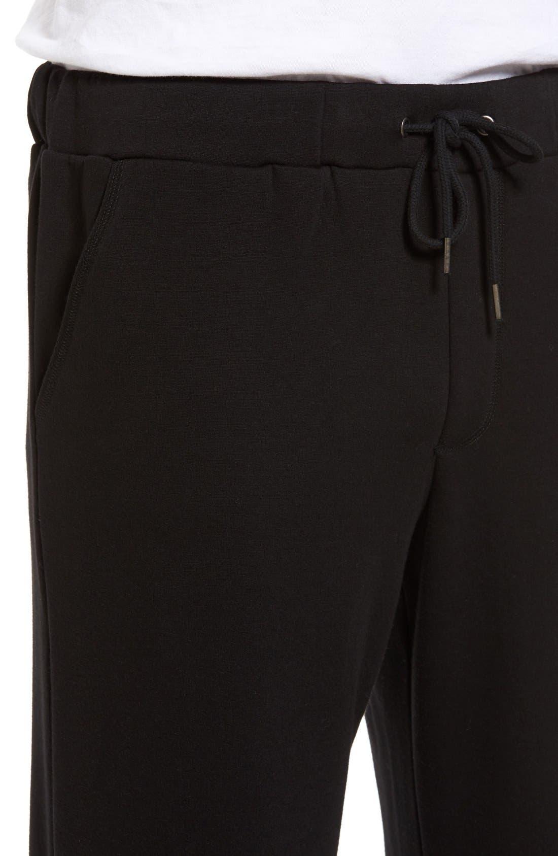 Fleece Lounge Pants,                             Alternate thumbnail 3, color,                             001