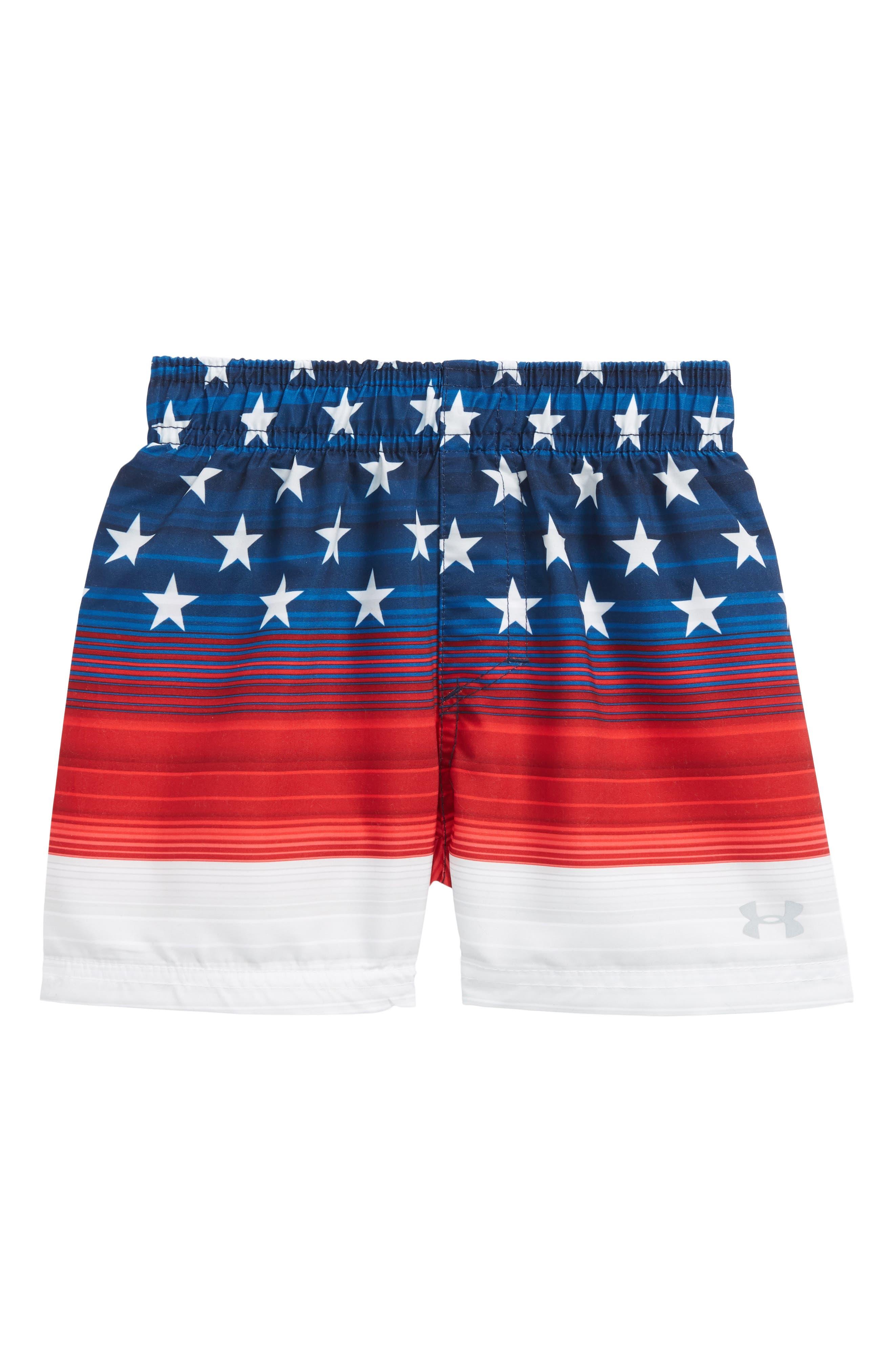 Americana Stripe Volley Swim Trunks,                         Main,                         color, 400