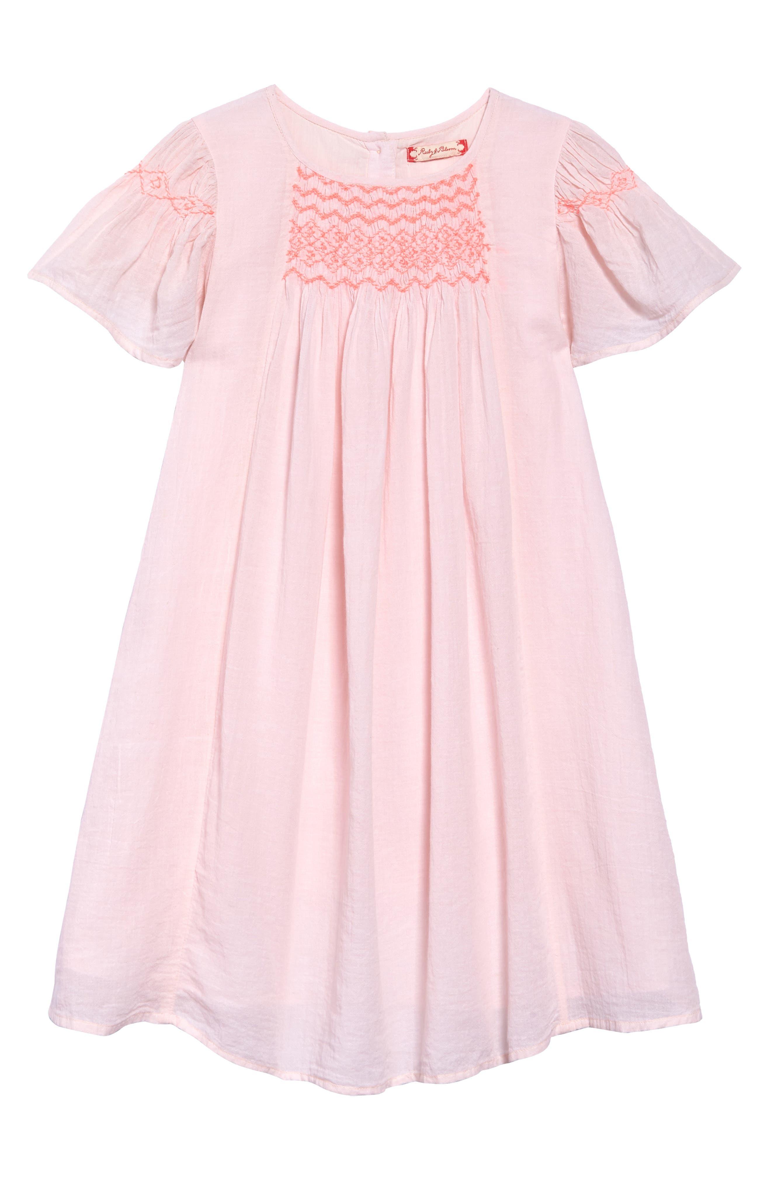 Neon Smocked Dress,                         Main,                         color, 680