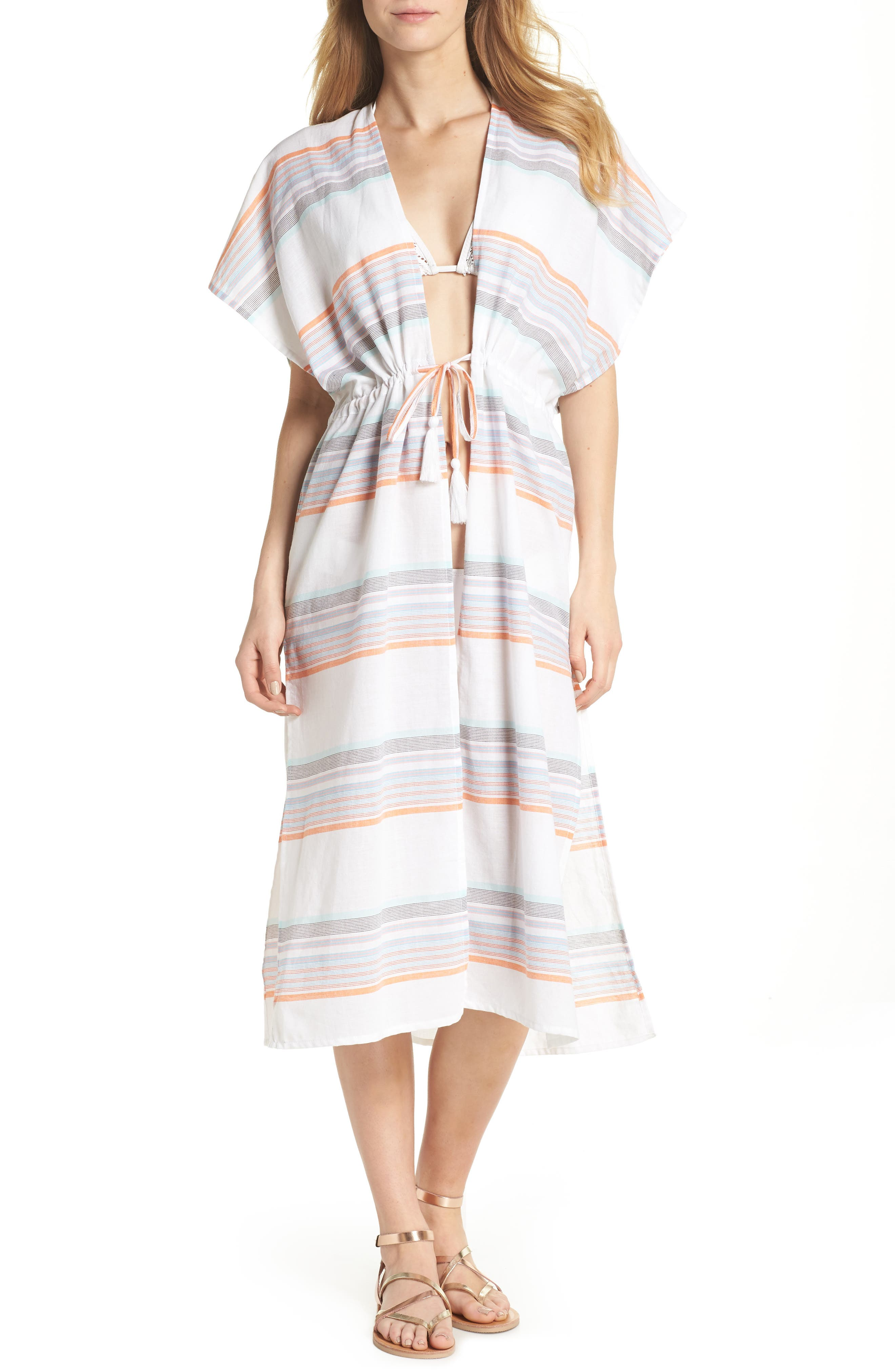 Sunset Stripe Cover-Up,                             Main thumbnail 1, color,                             100