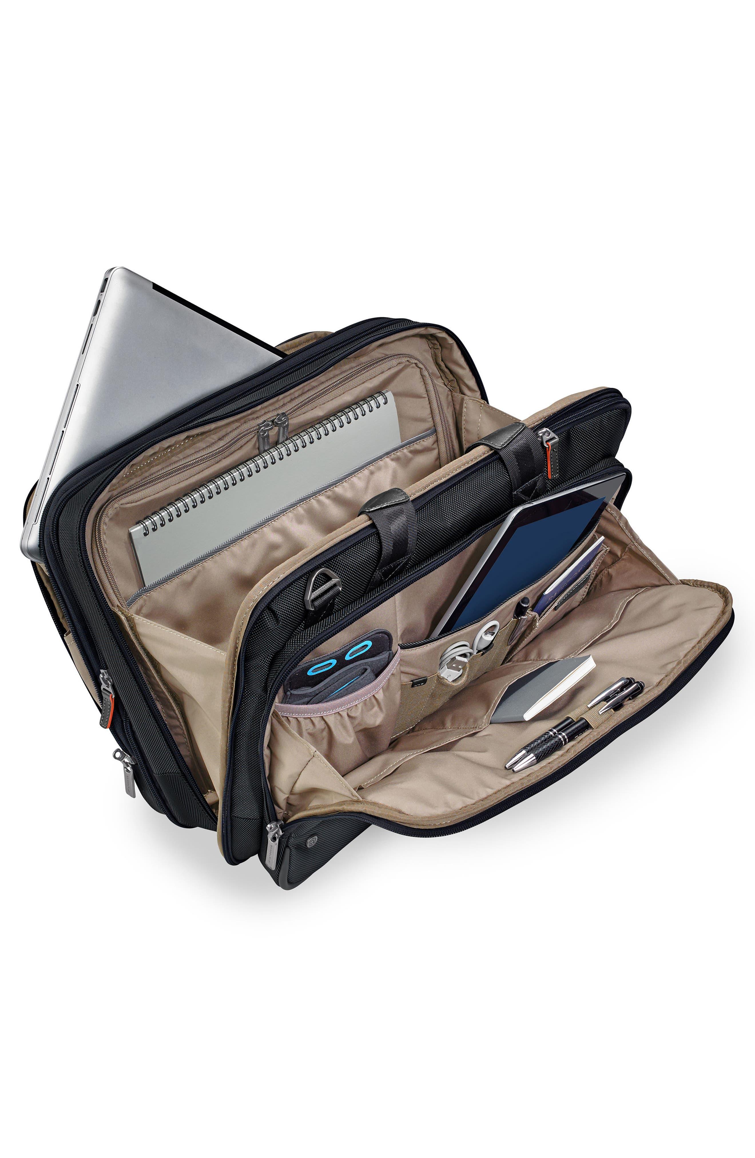 @work Expandable Briefcase,                             Alternate thumbnail 2, color,                             BLACK