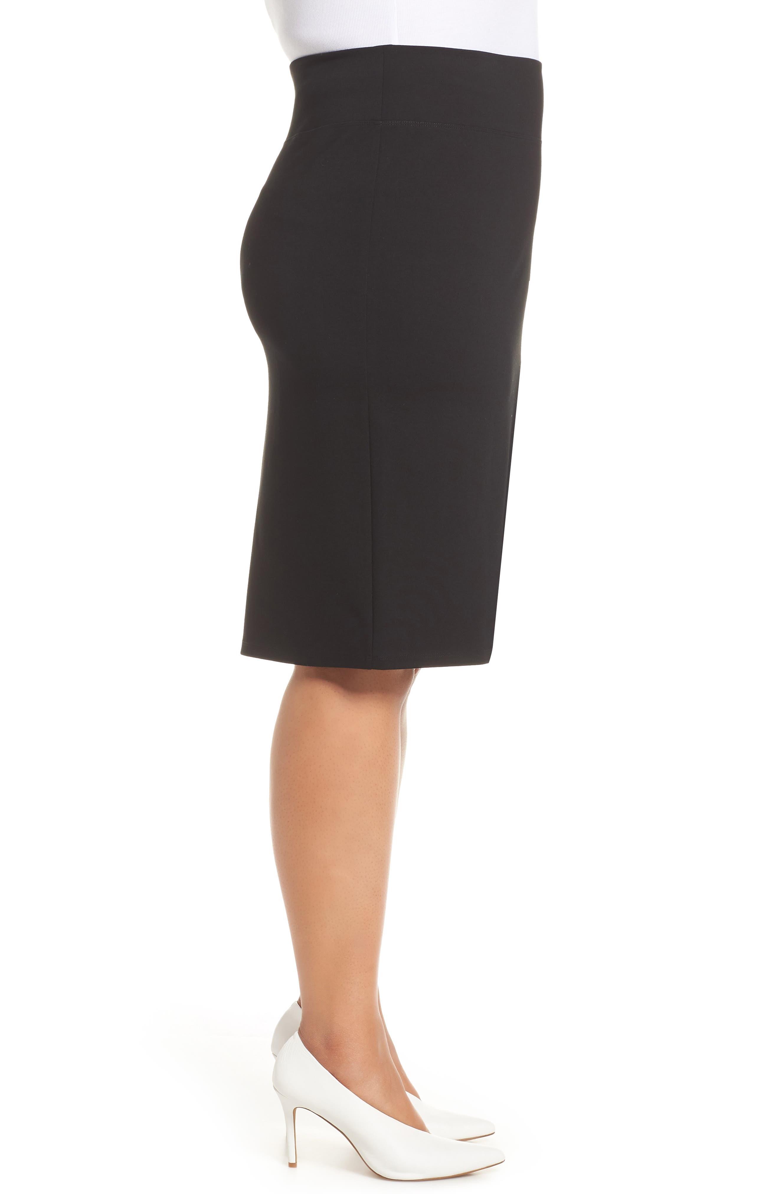 Ponte Skirt,                             Alternate thumbnail 3, color,                             BLACK