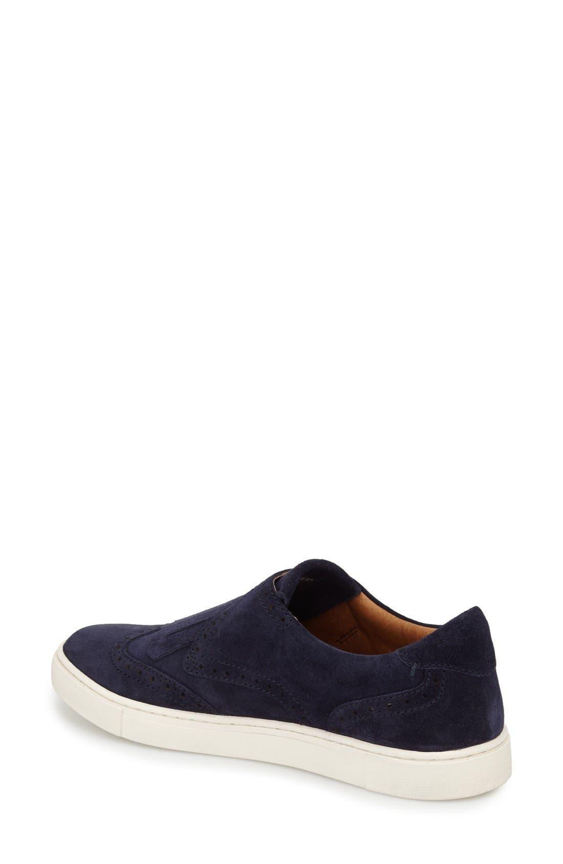 'Gemma' Kiltie Slip On-Sneaker,                             Alternate thumbnail 7, color,