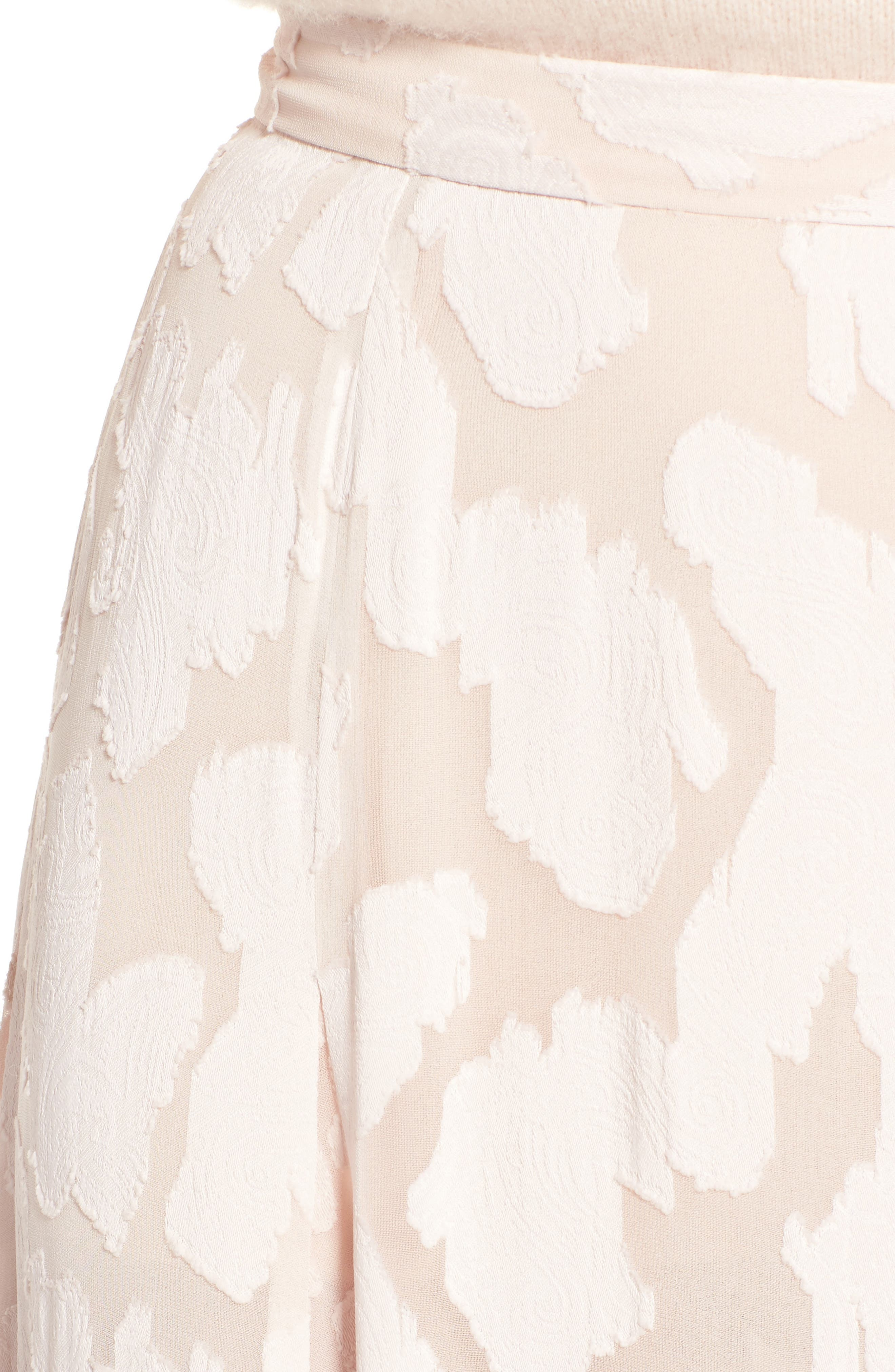 Clip Jacquard Godet Skirt,                             Alternate thumbnail 8, color,