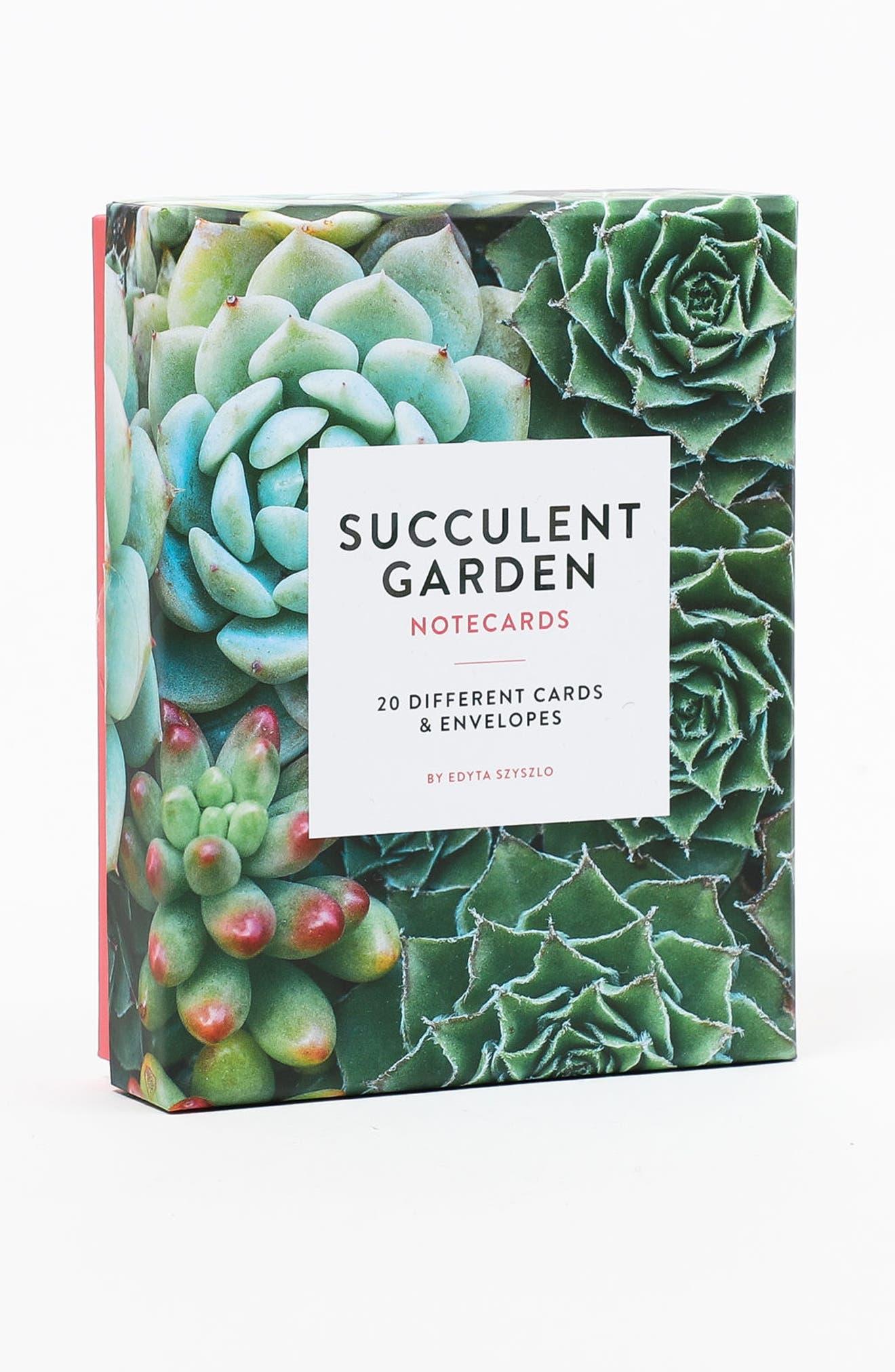 Set of 20 Succulent Notecards,                             Alternate thumbnail 2, color,                             300