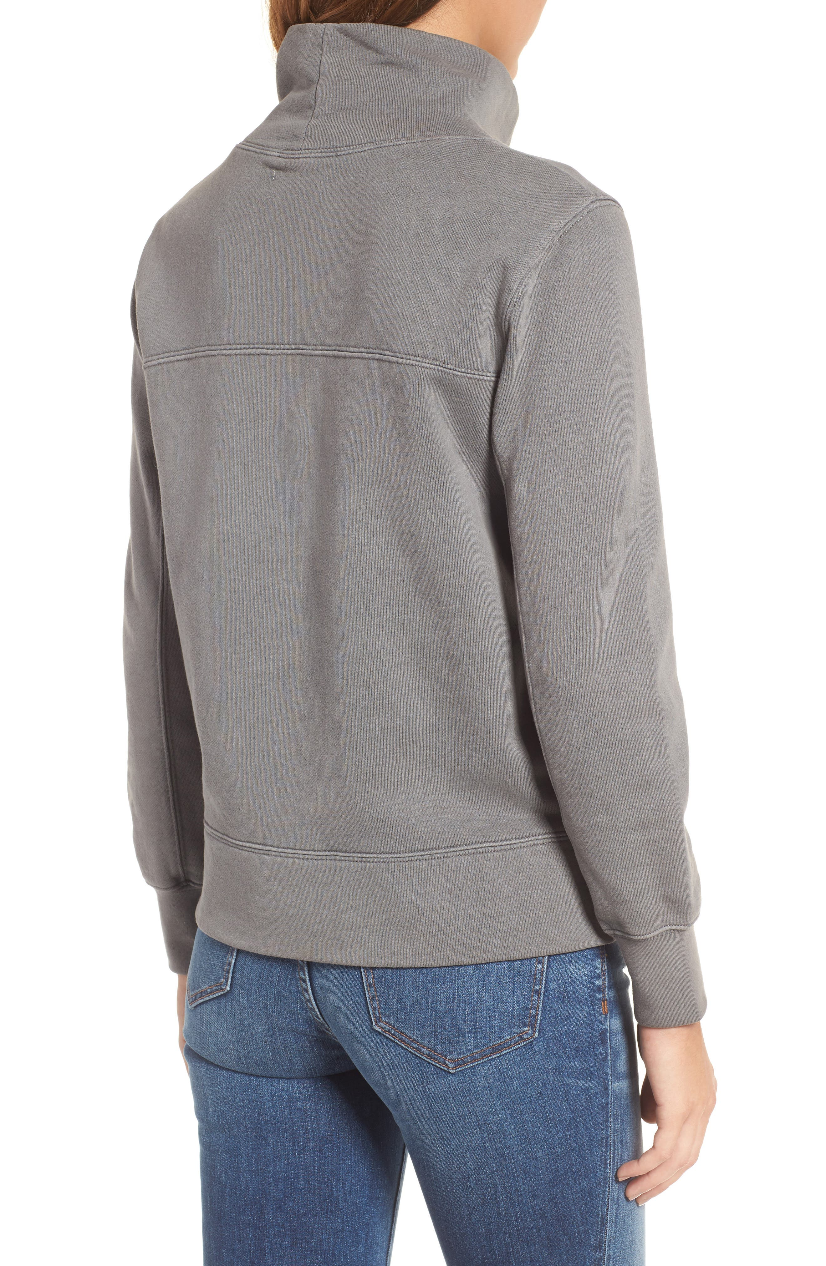 Garment Dyed Funnel Neck Sweatshirt,                             Alternate thumbnail 7, color,