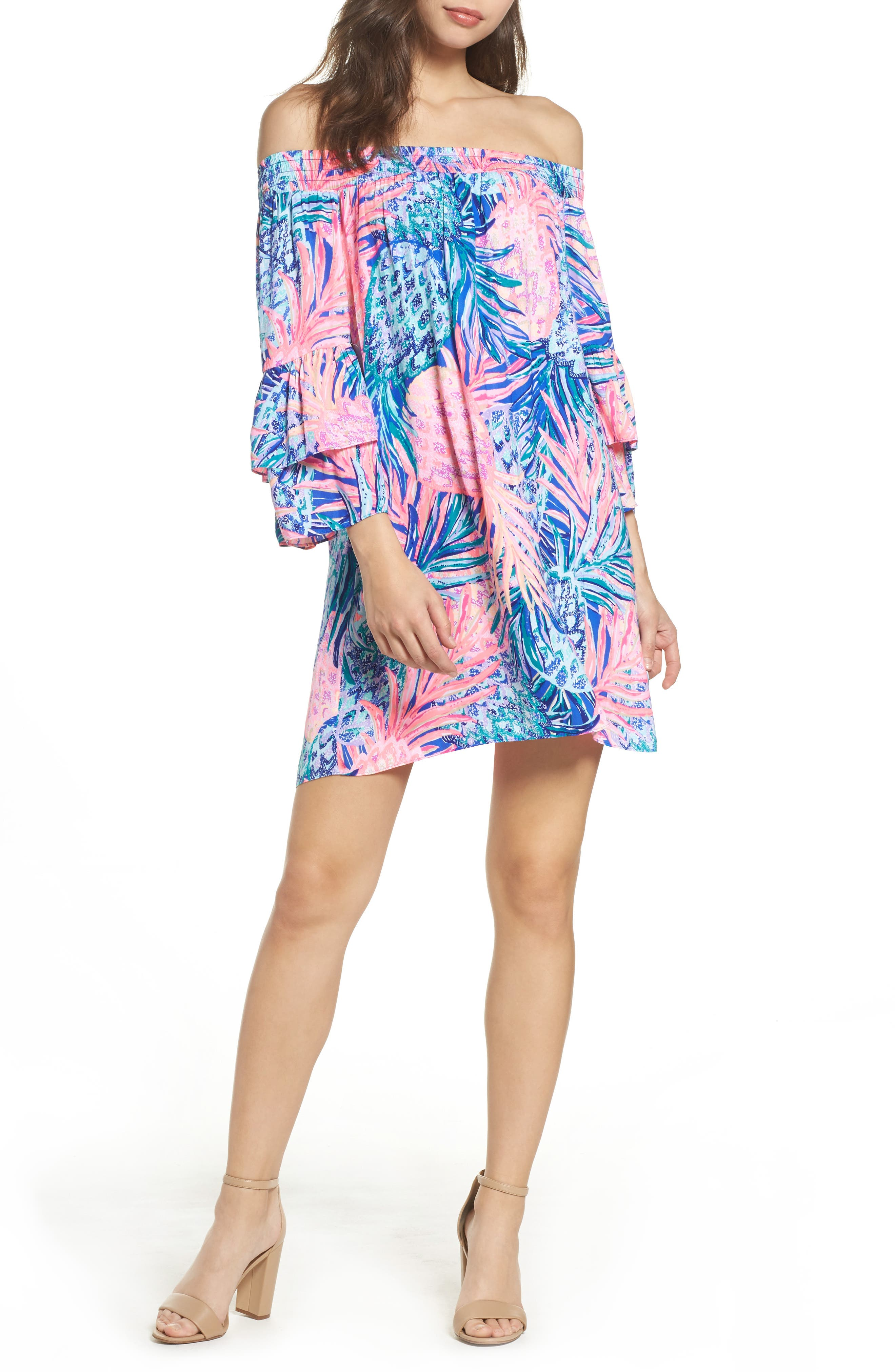Tobyn Off the Shoulder Dress,                         Main,                         color, 699
