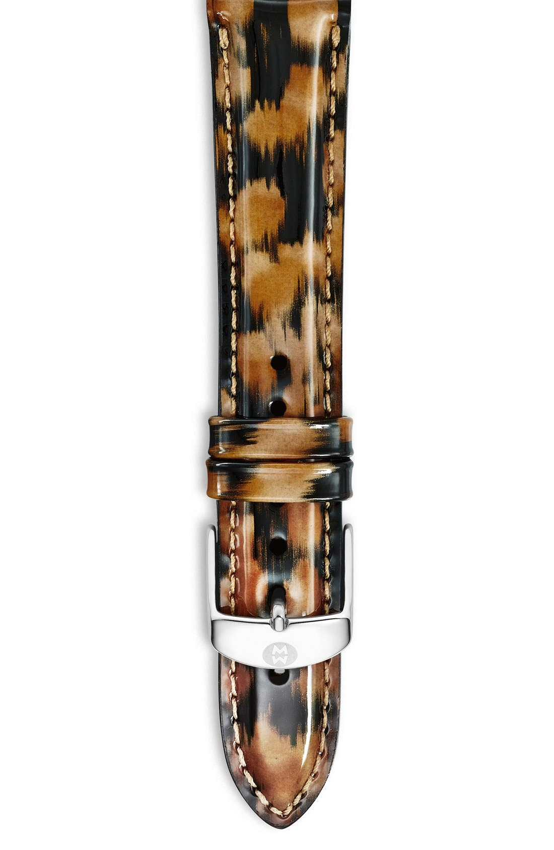 18mm Patent Leather Watch Strap,                             Main thumbnail 11, color,
