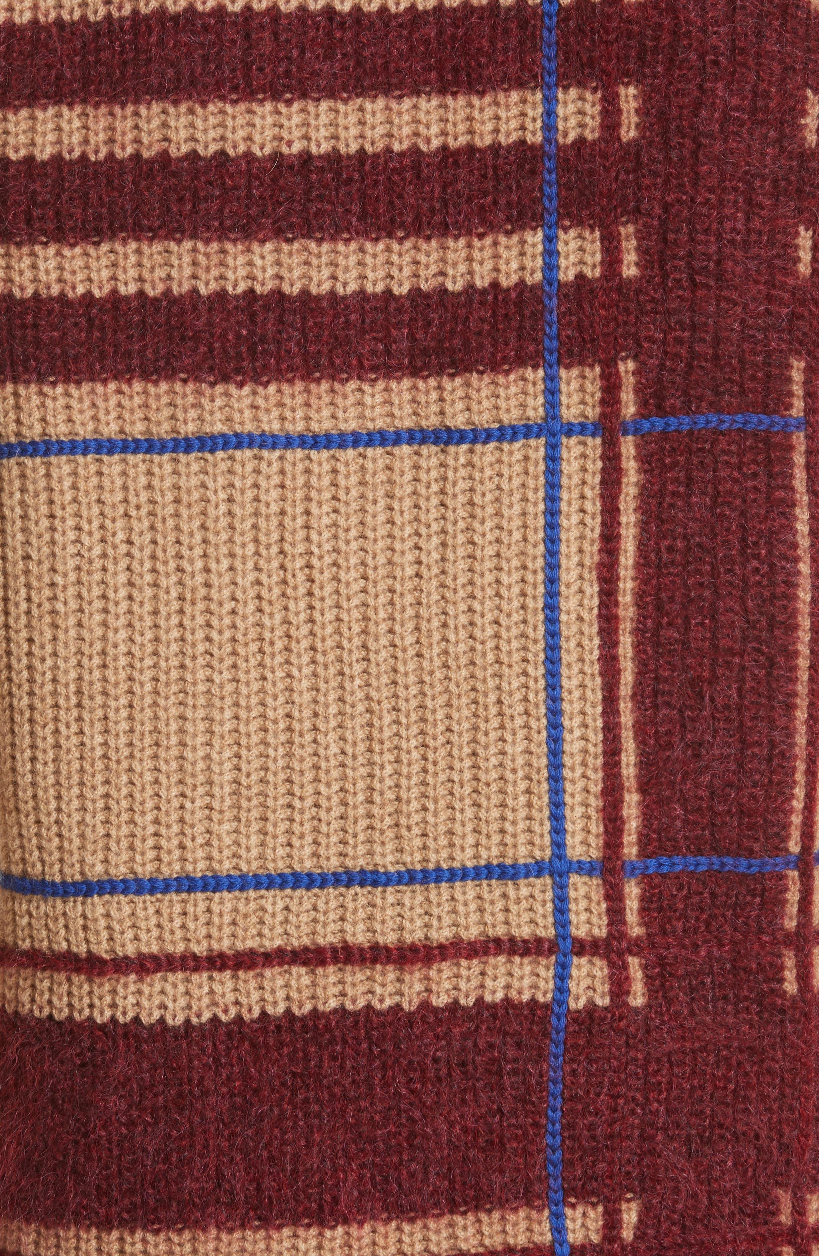 Eden Plaid Sweater,                             Alternate thumbnail 5, color,                             250