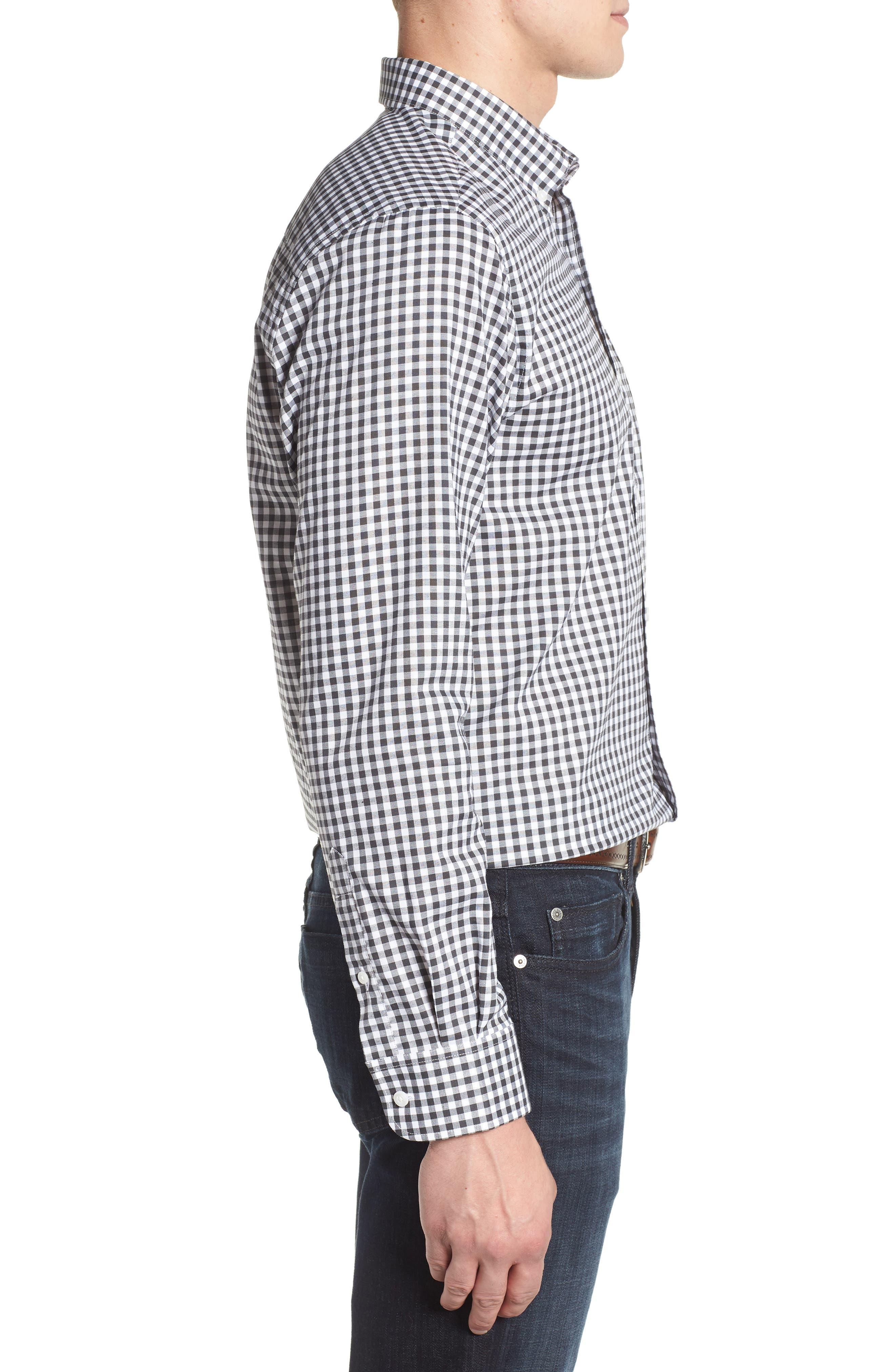 League New Orleans Saints Regular Fit Shirt,                             Alternate thumbnail 3, color,                             CHARCOAL