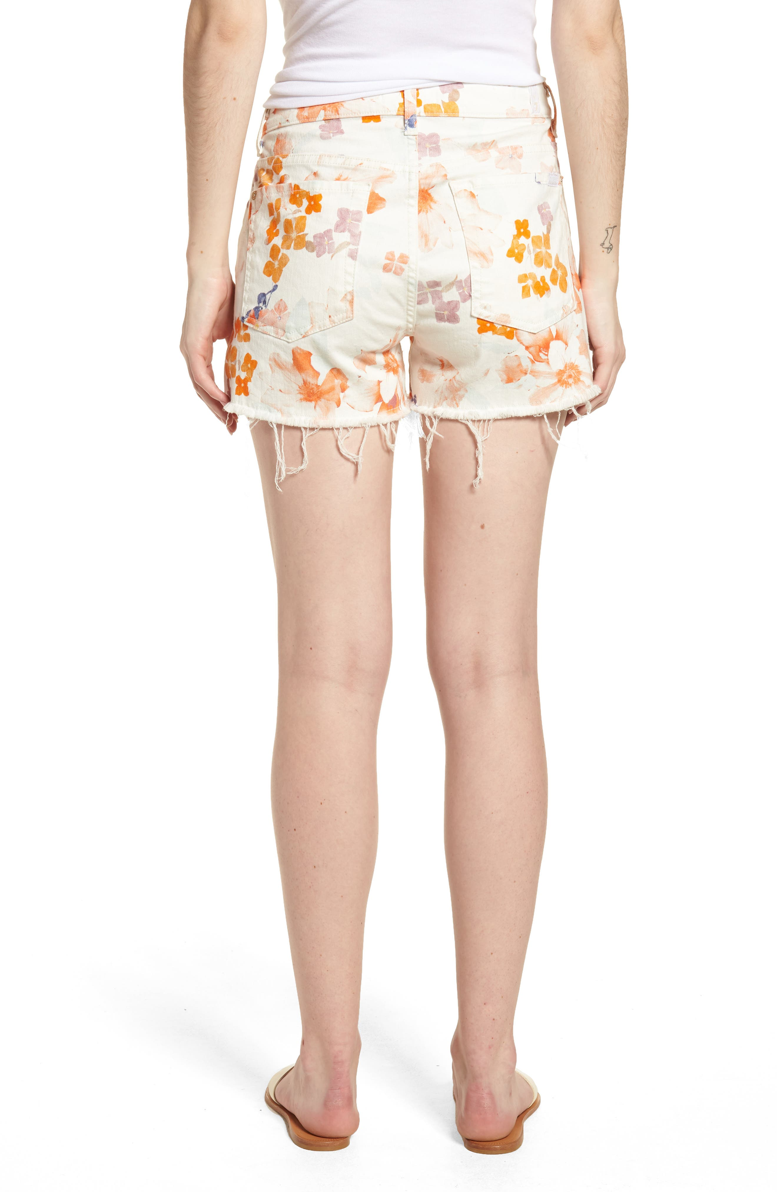 Cutoff Denim Shorts,                             Alternate thumbnail 2, color,                             651