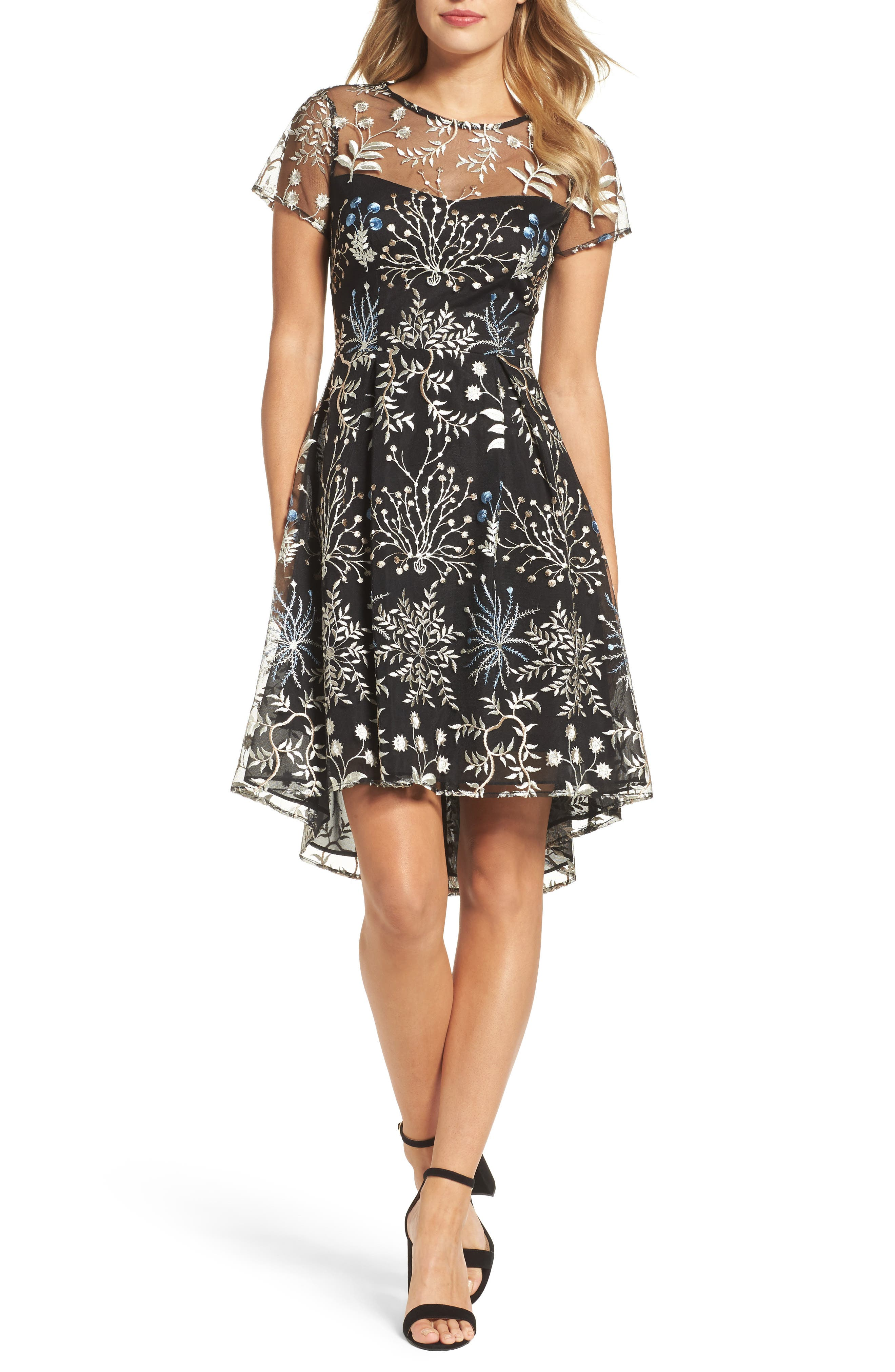 Adrianna Papell Ethereal Fit & Flare Dress