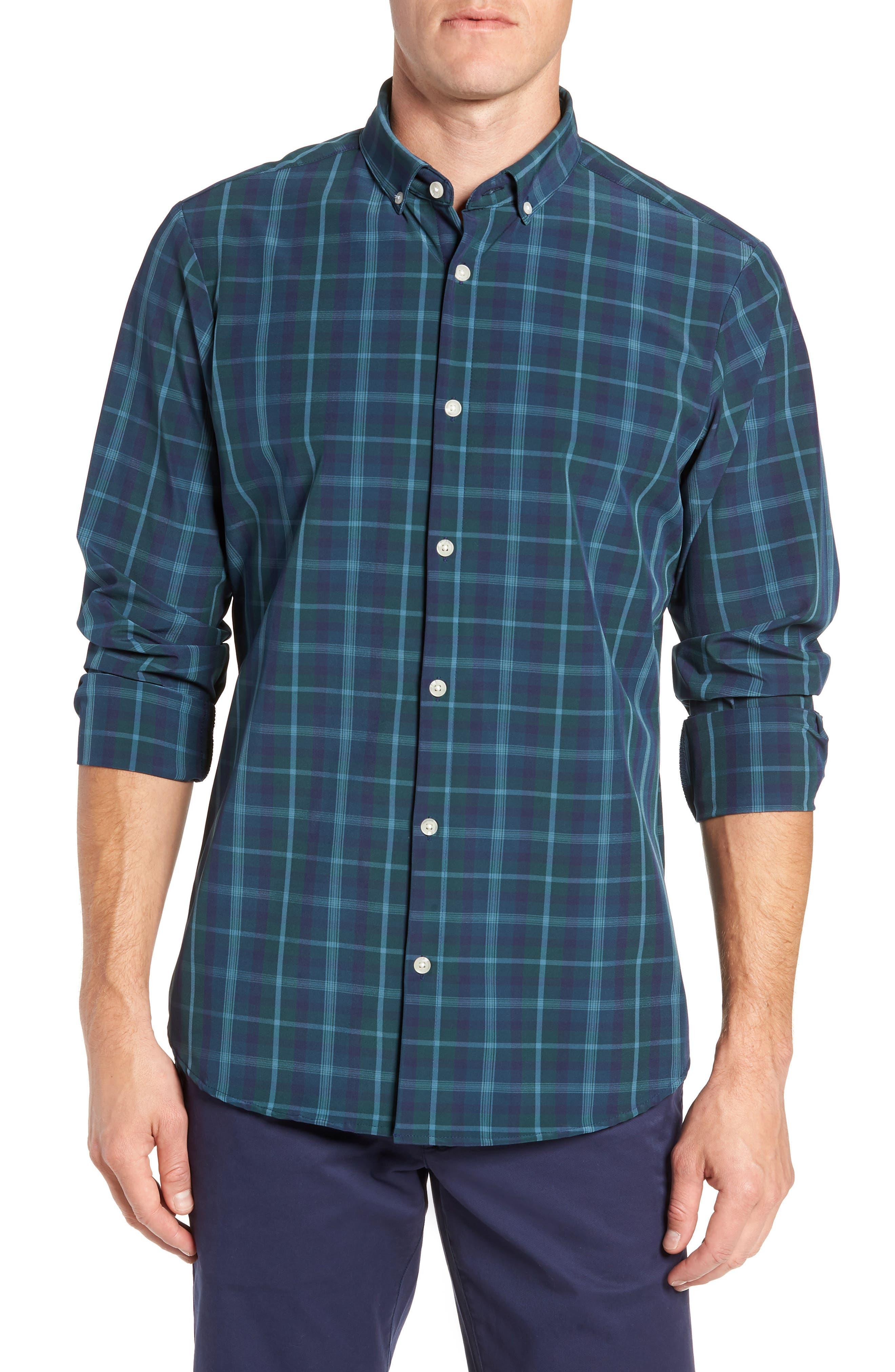 Northcross Plaid Sport Shirt,                         Main,                         color, GREEN