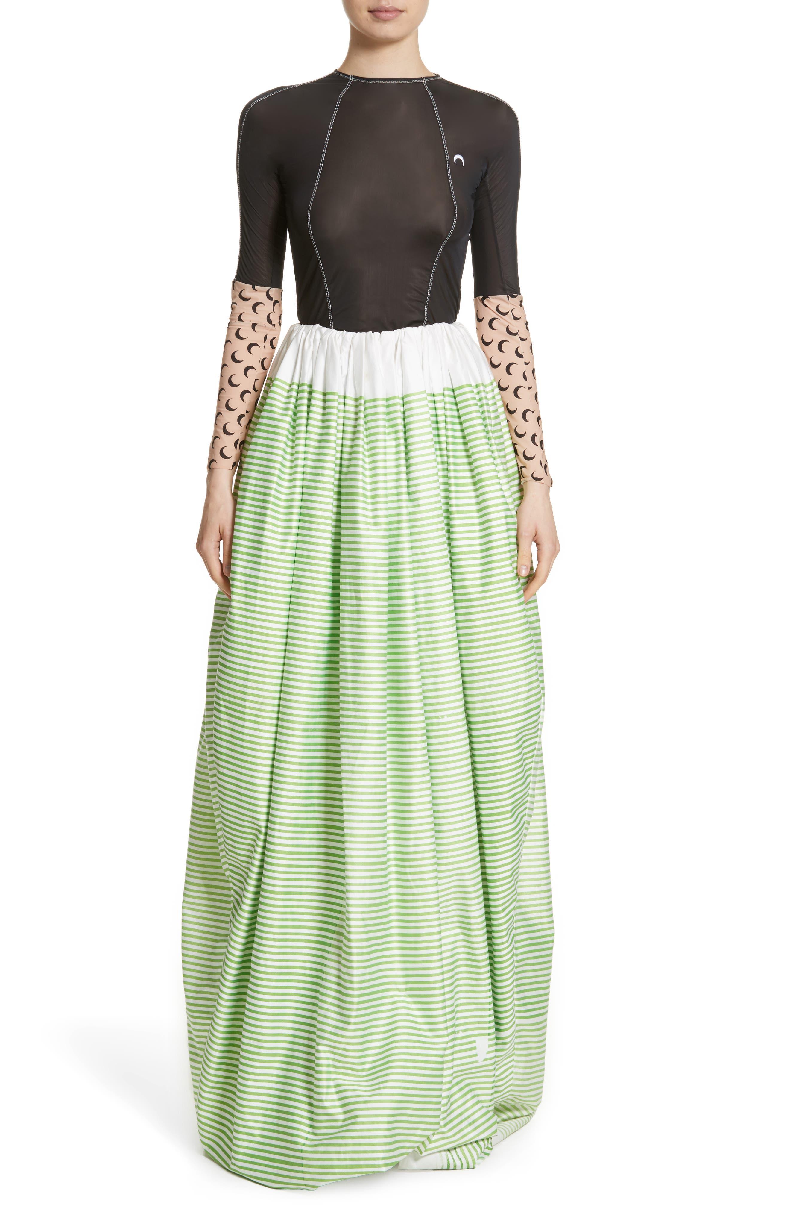 Stripe Ball Skirt,                             Alternate thumbnail 6, color,                             300