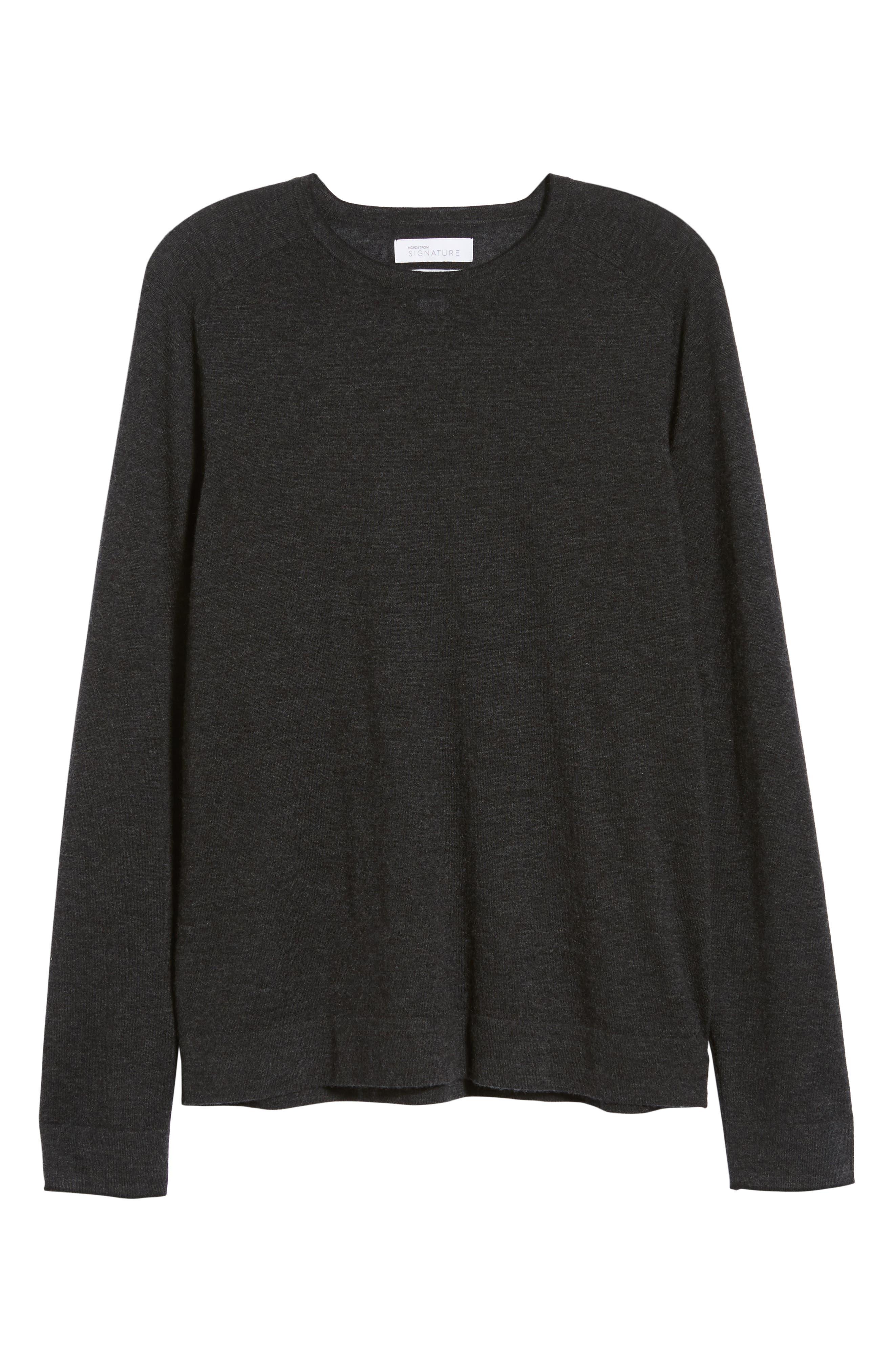 NORDSTROM SIGNATURE,                             Cashmere Crewneck Sweater,                             Alternate thumbnail 6, color,                             030