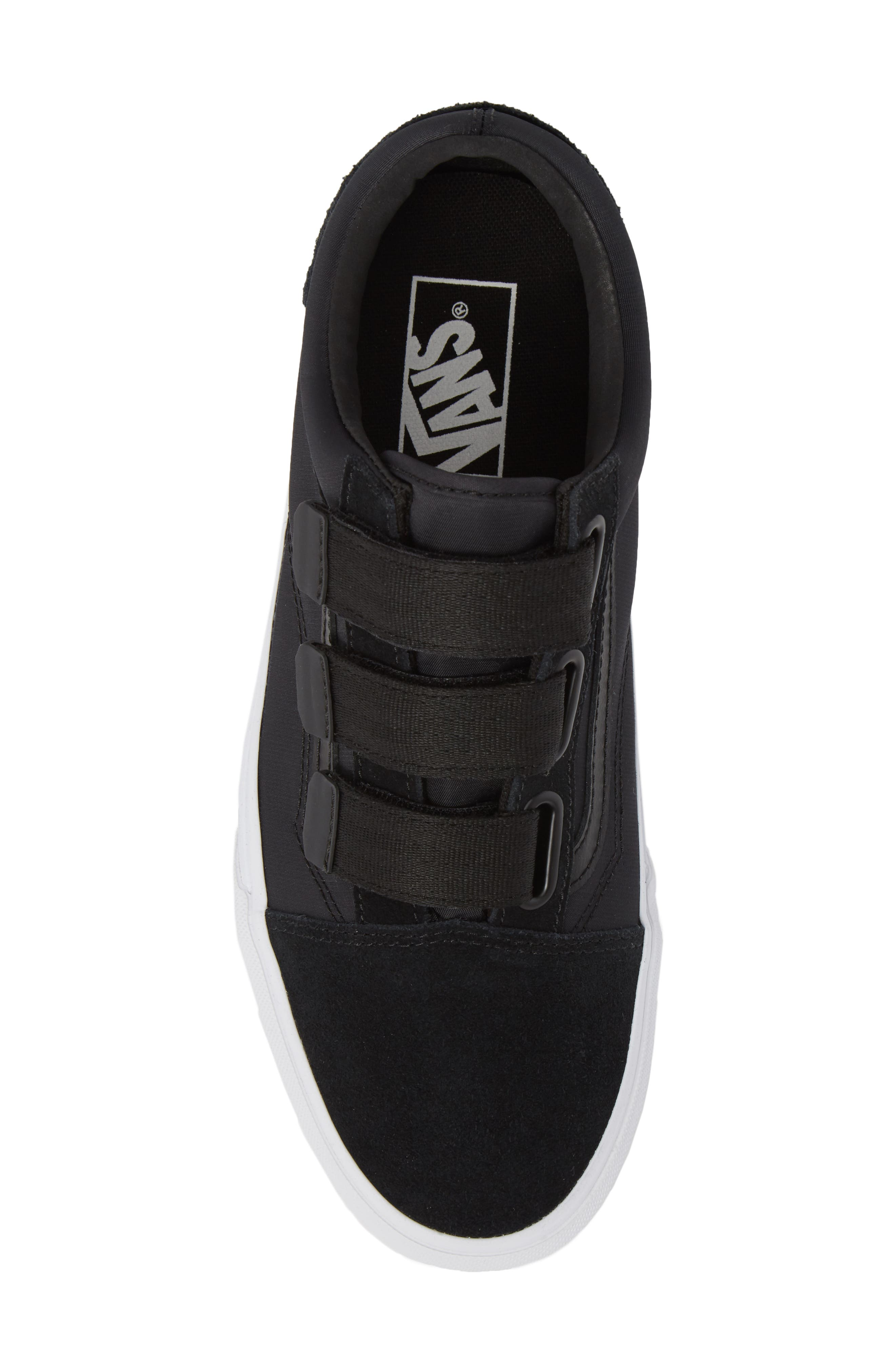 Old School V-Sneaker,                             Alternate thumbnail 5, color,                             001