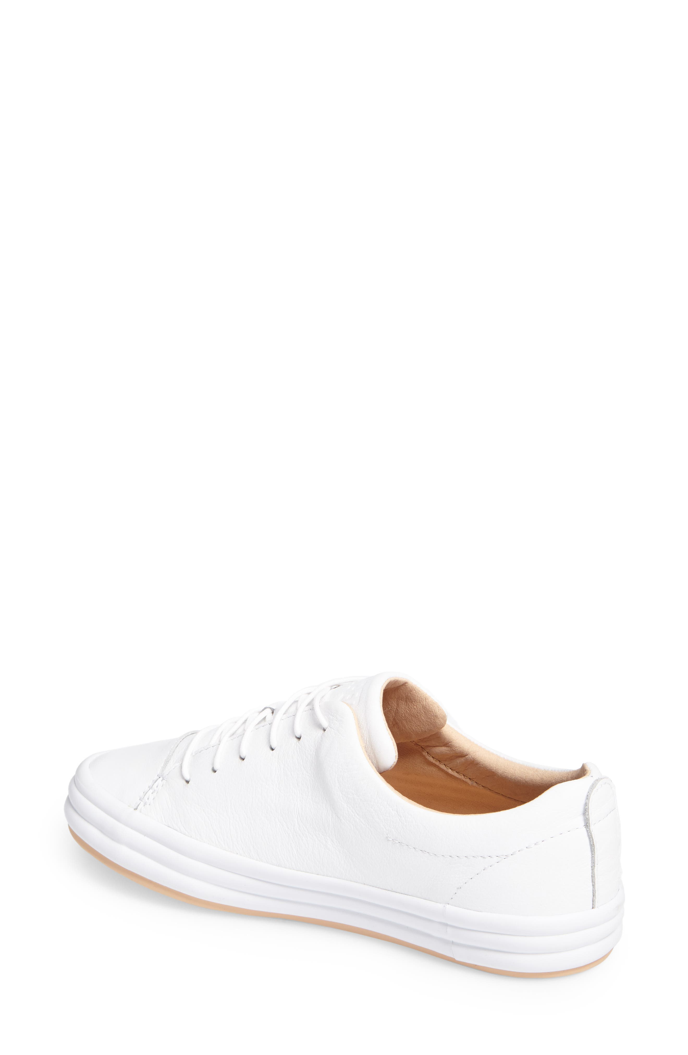 Hoops Sneaker,                             Alternate thumbnail 2, color,                             WHITE LEATHER