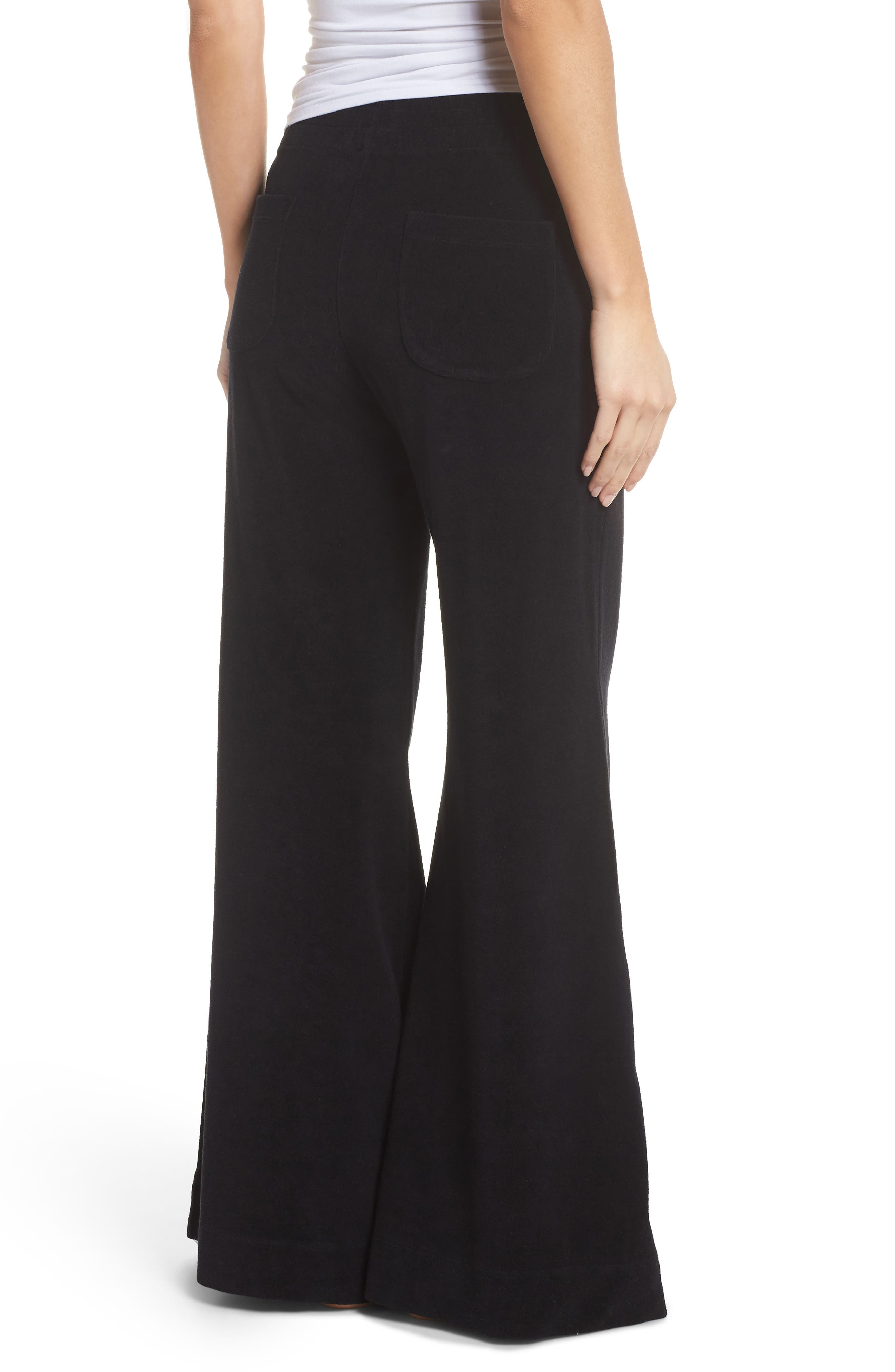 Terry Flare Lounge Pants,                             Alternate thumbnail 2, color,                             001