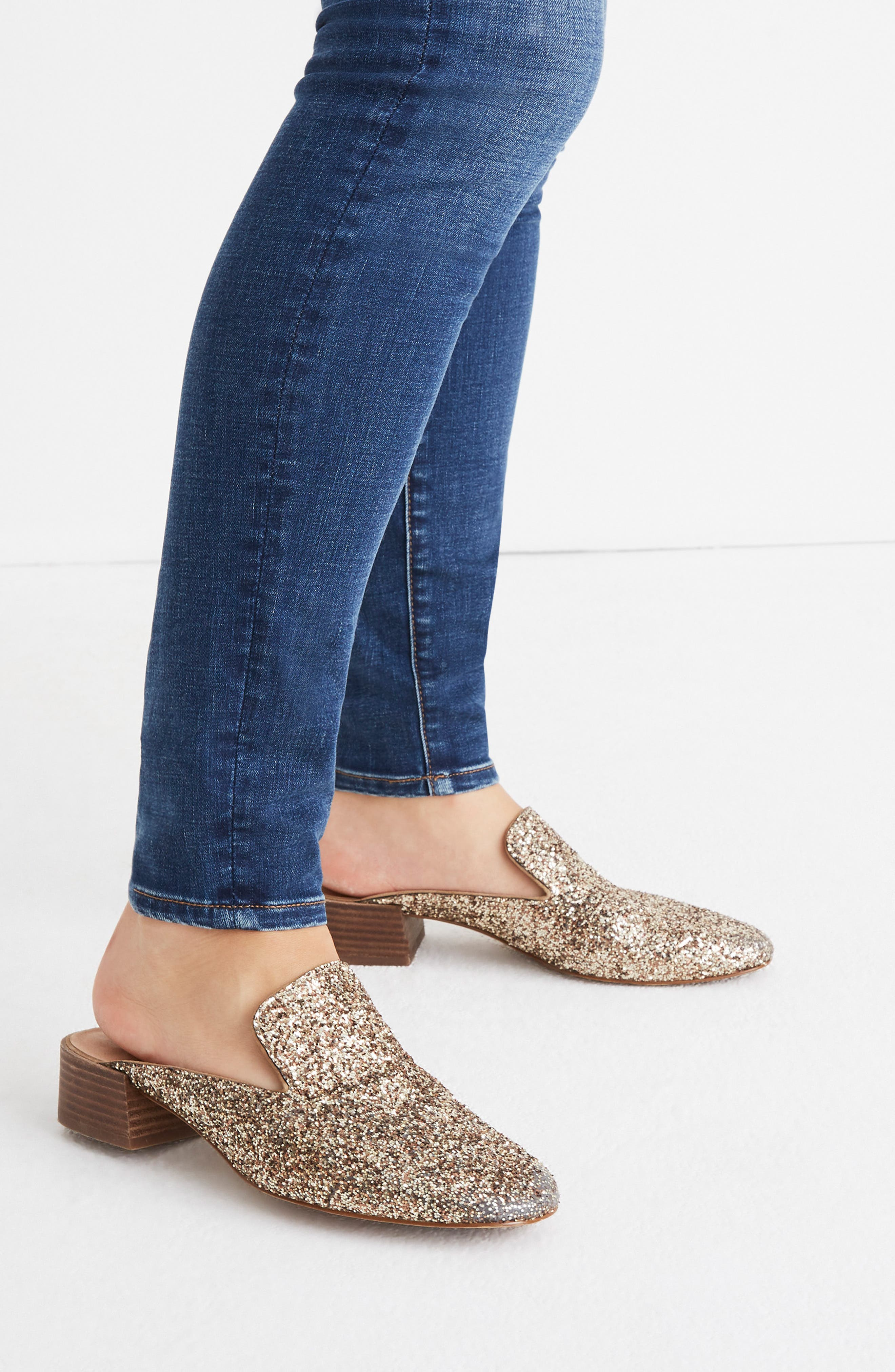 The Willa Loafer Mule,                             Alternate thumbnail 8, color,                             SMOKY GOLD