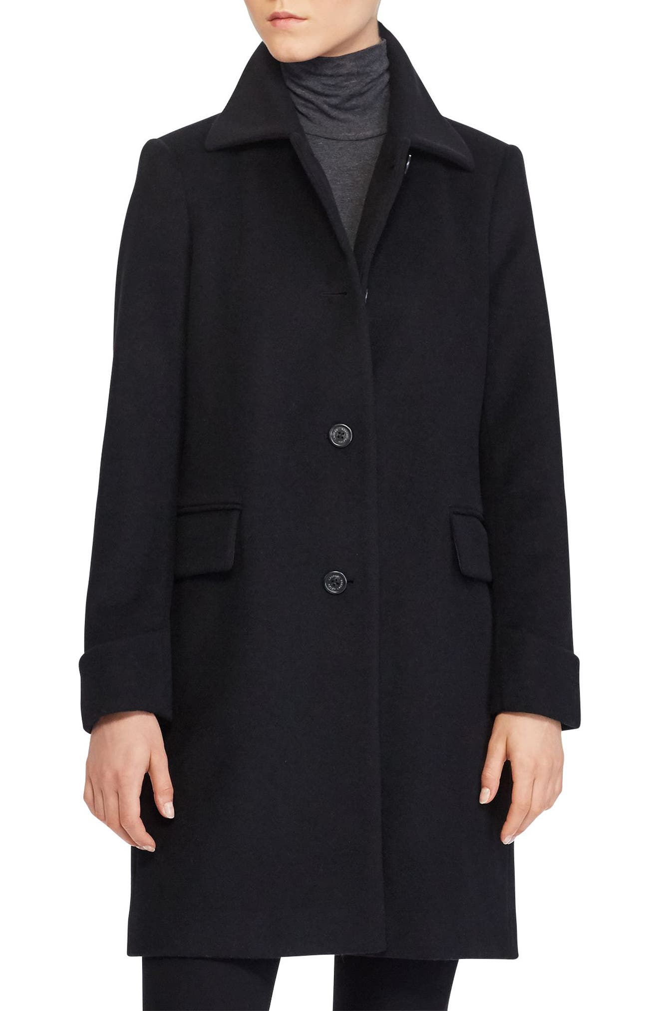 Wool Blend Coat,                             Main thumbnail 1, color,                             001