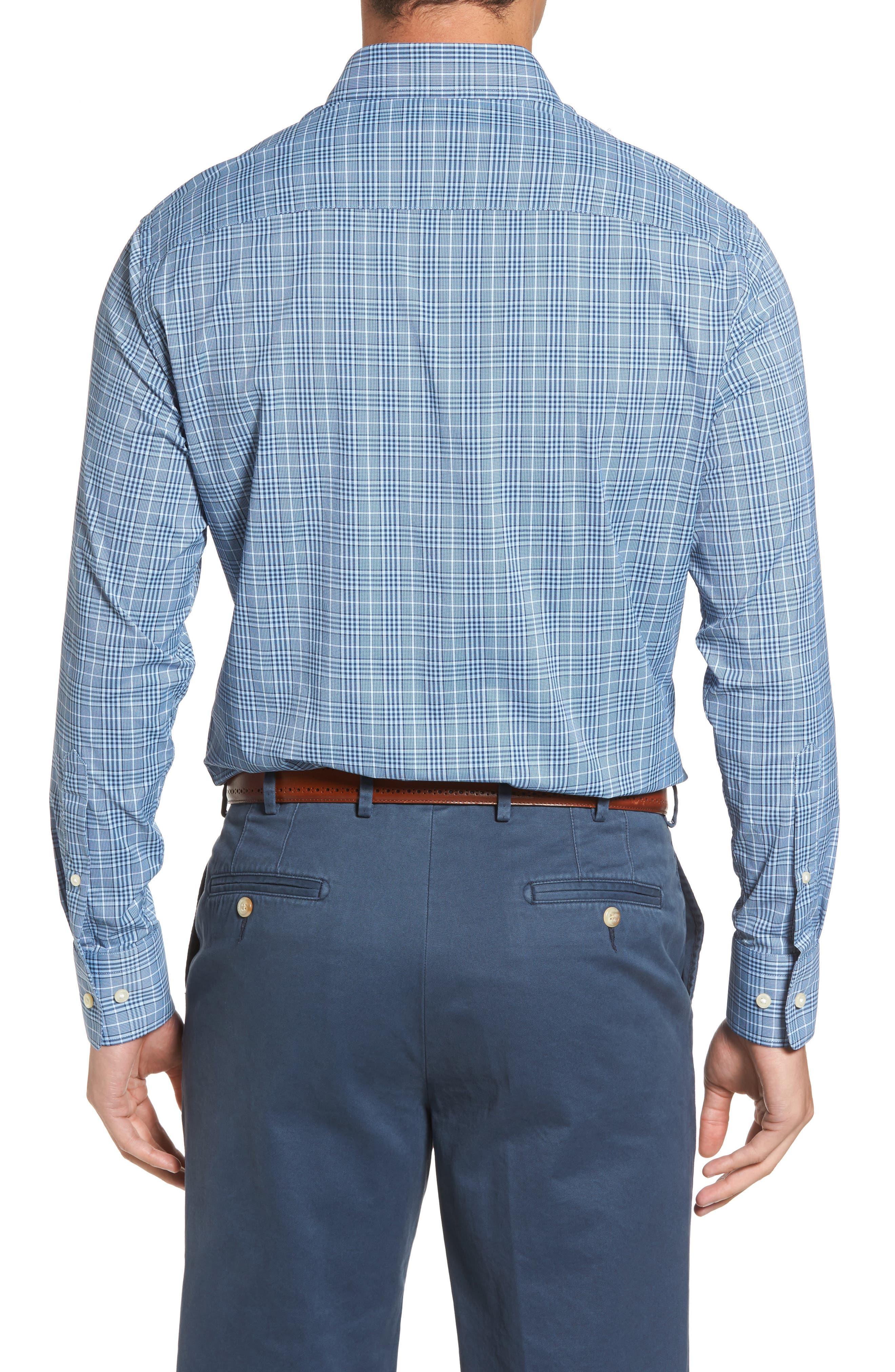 Honeycomb Regular Fit Glen Plaid Performance Sport Shirt,                             Alternate thumbnail 2, color,                             402
