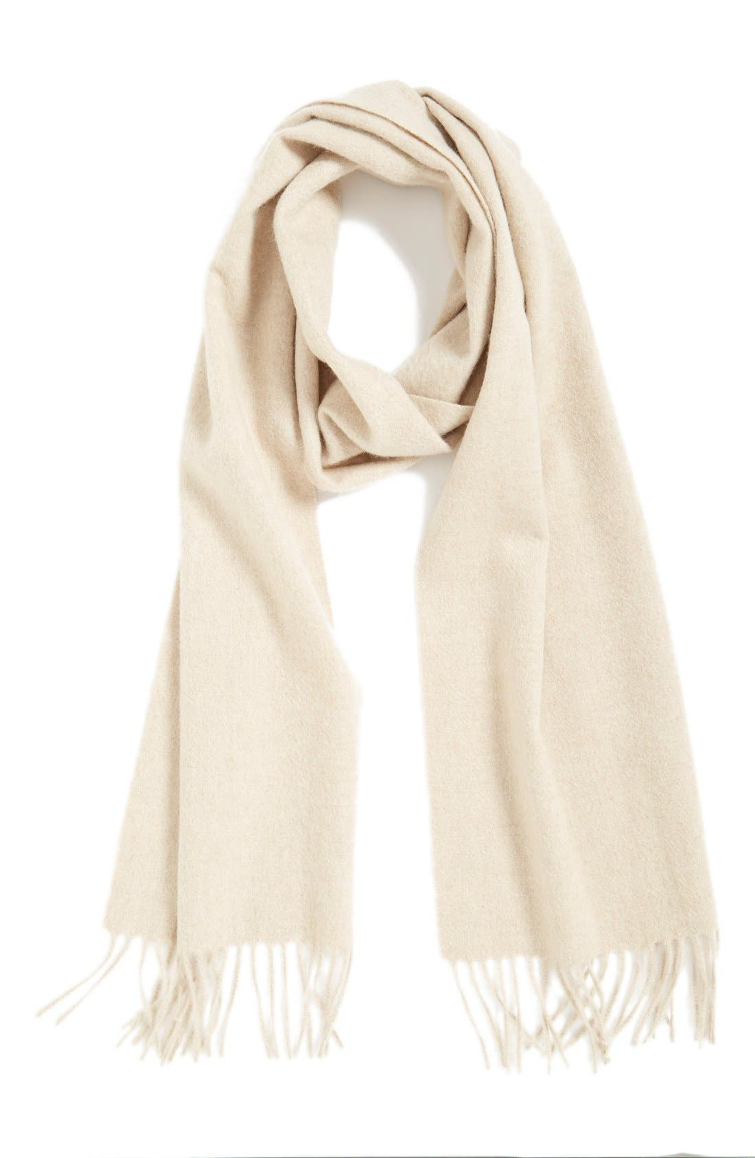 Solid Woven Cashmere Scarf,                             Main thumbnail 7, color,
