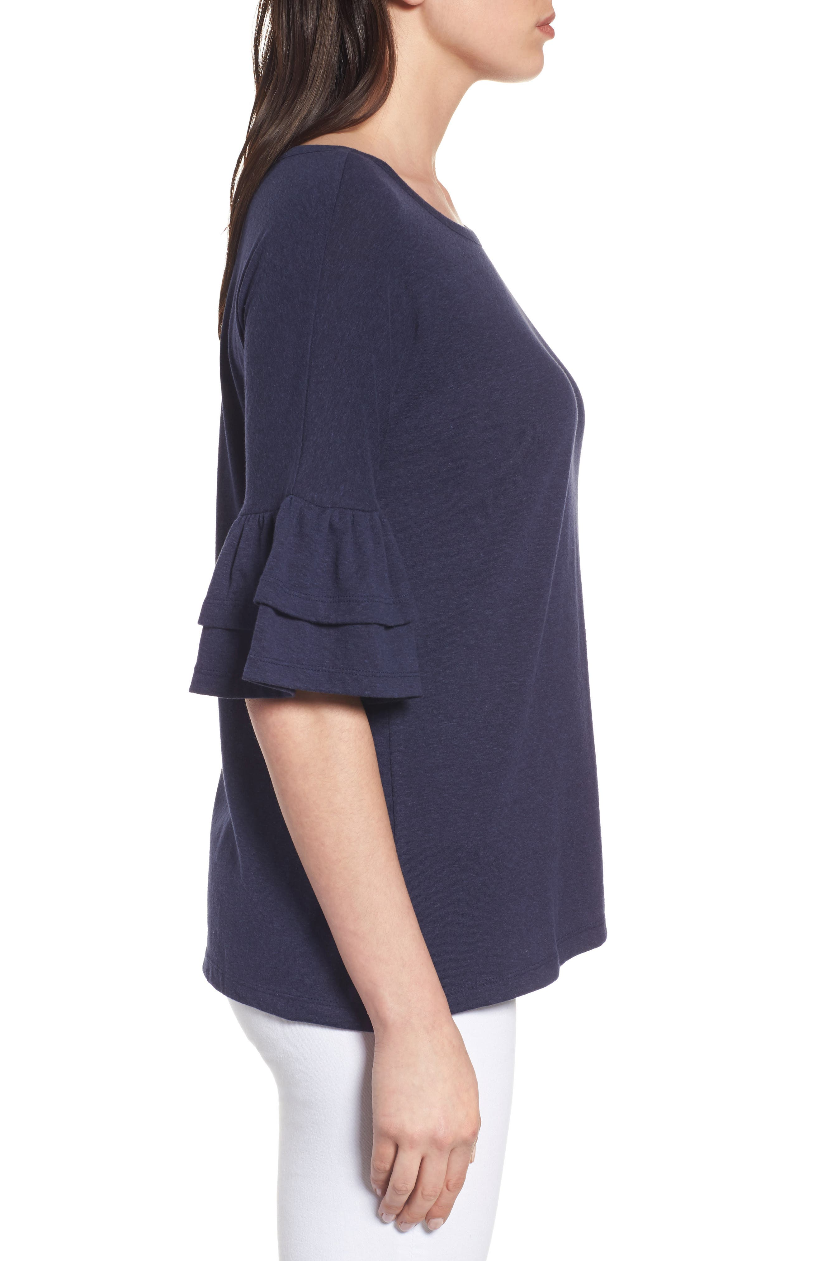 Tiered Bell Sleeve Tee,                             Alternate thumbnail 22, color,