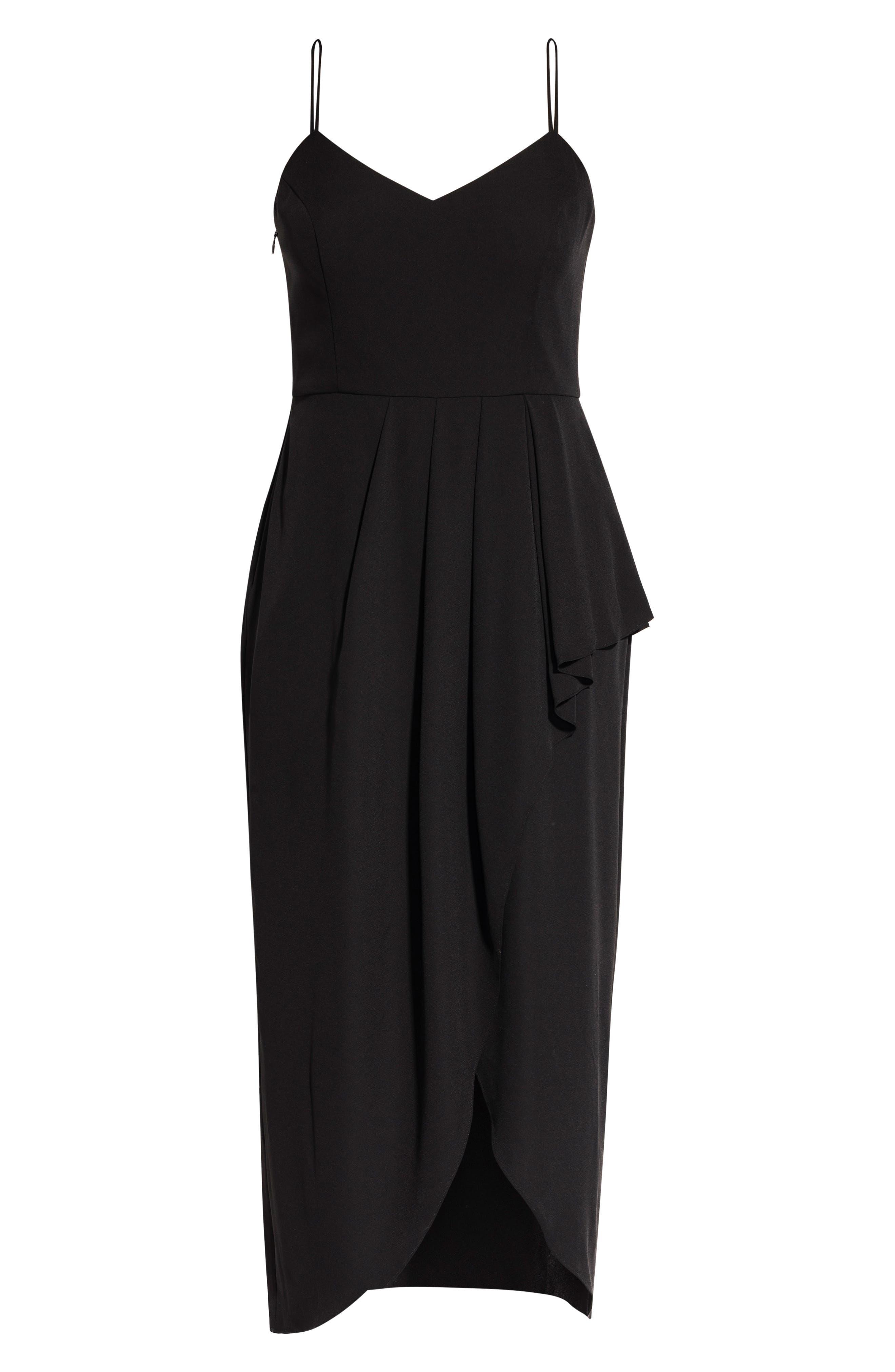 Romance Maxi Dress,                             Alternate thumbnail 3, color,                             BLACK