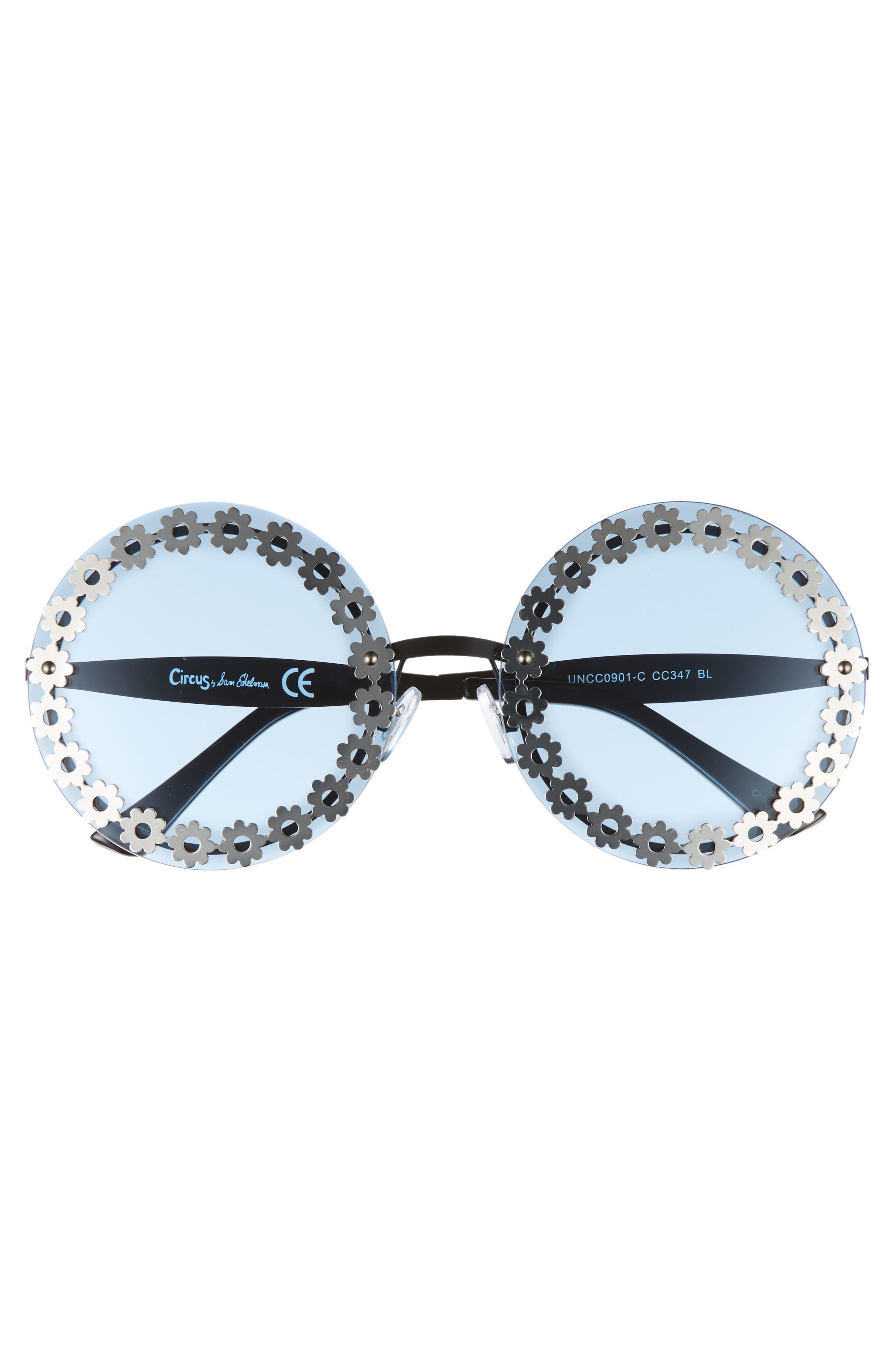60mm Round Sunglasses,                             Alternate thumbnail 3, color,                             401