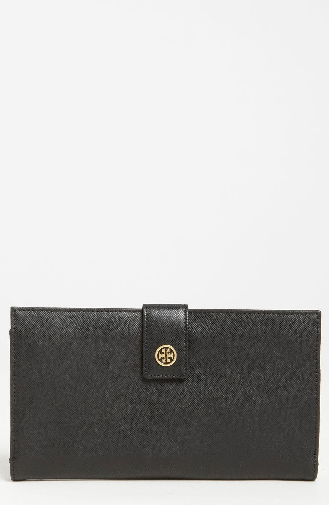 TORY BURCH 'Robinson' Oversized Travel Wallet, Main, color, 001