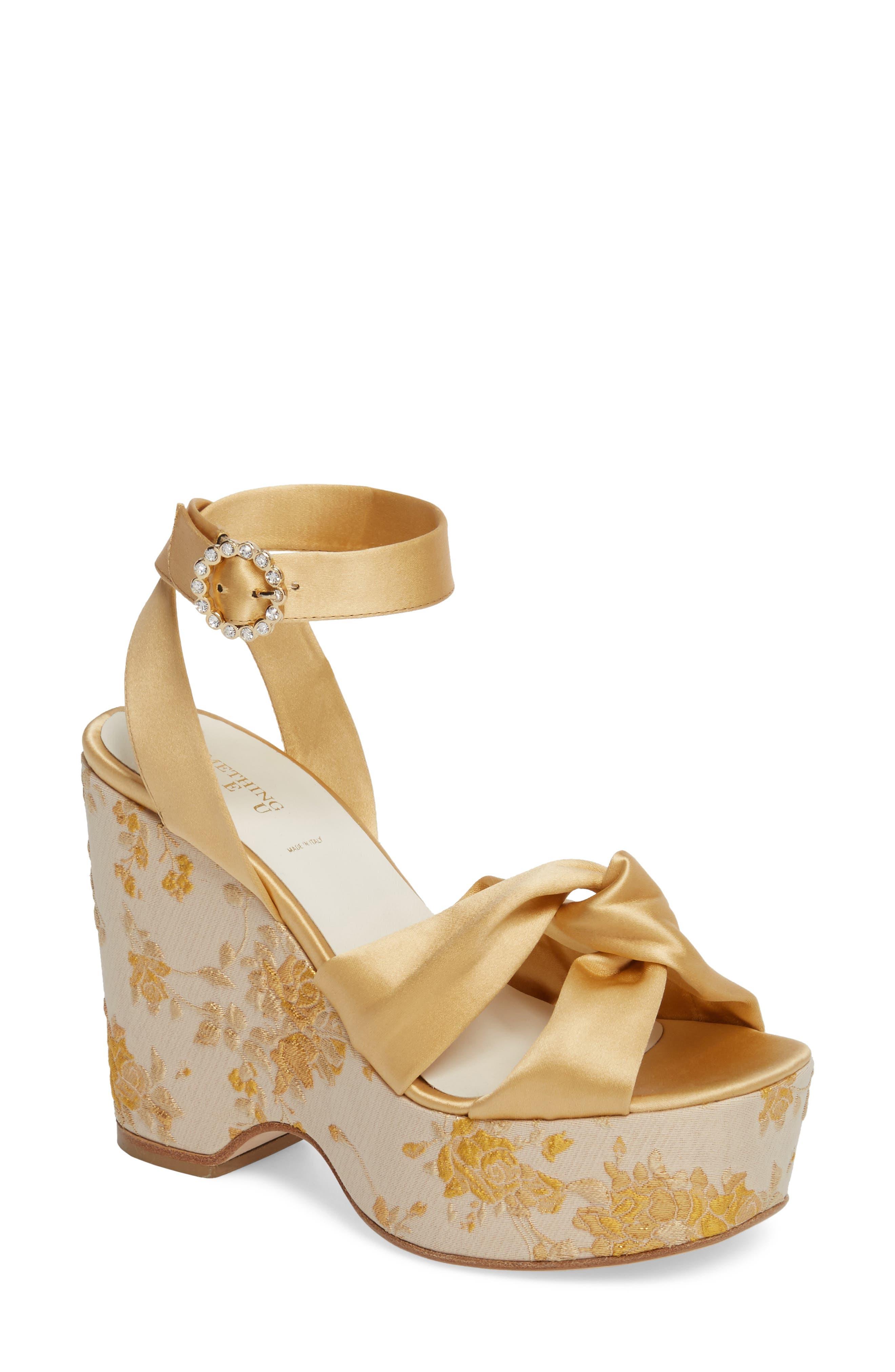 Serena Brocade Platform Sandal,                             Main thumbnail 3, color,