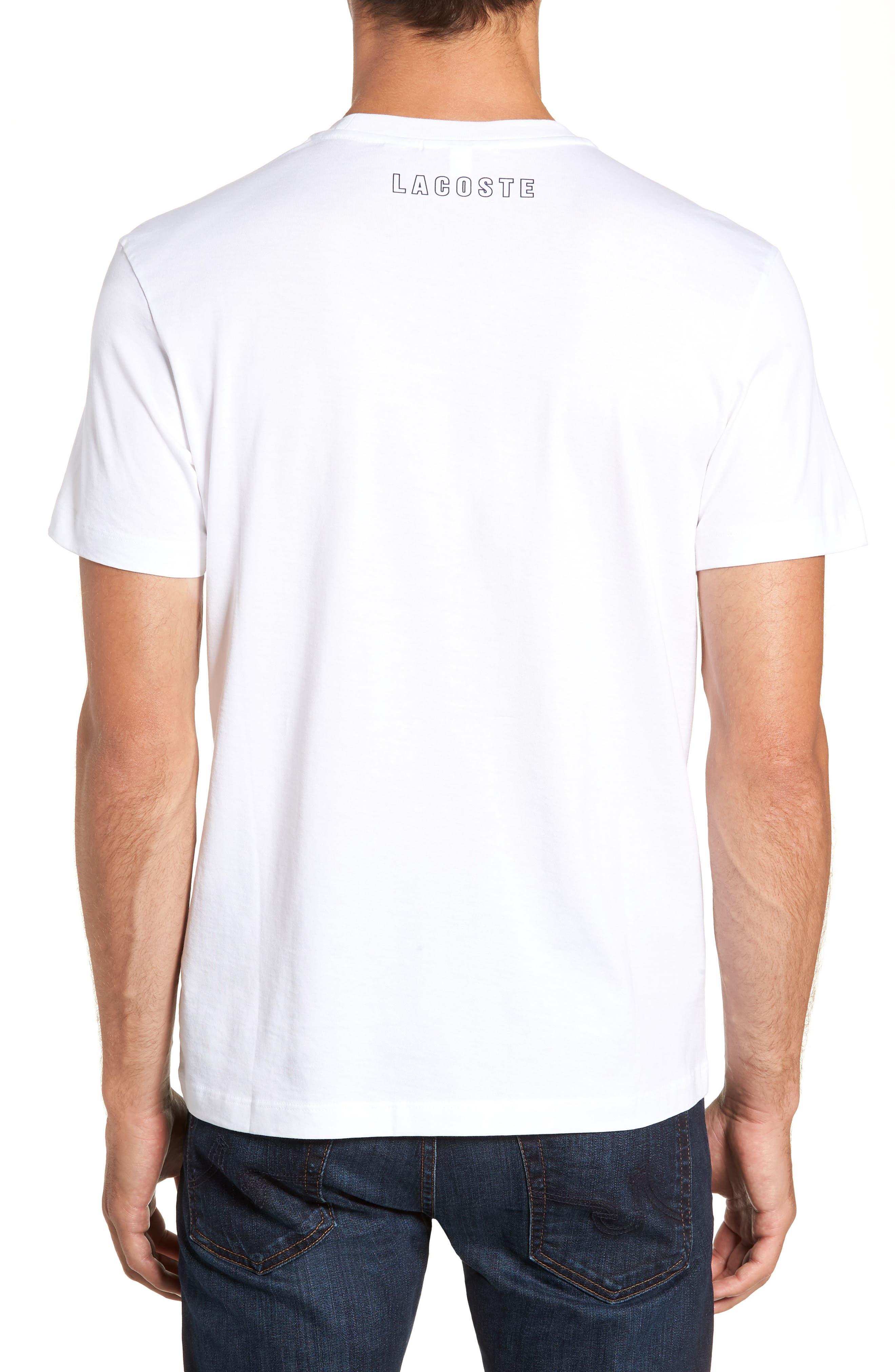 Regular Fit Heritage Graphic T-Shirt,                             Alternate thumbnail 2, color,                             WHITE