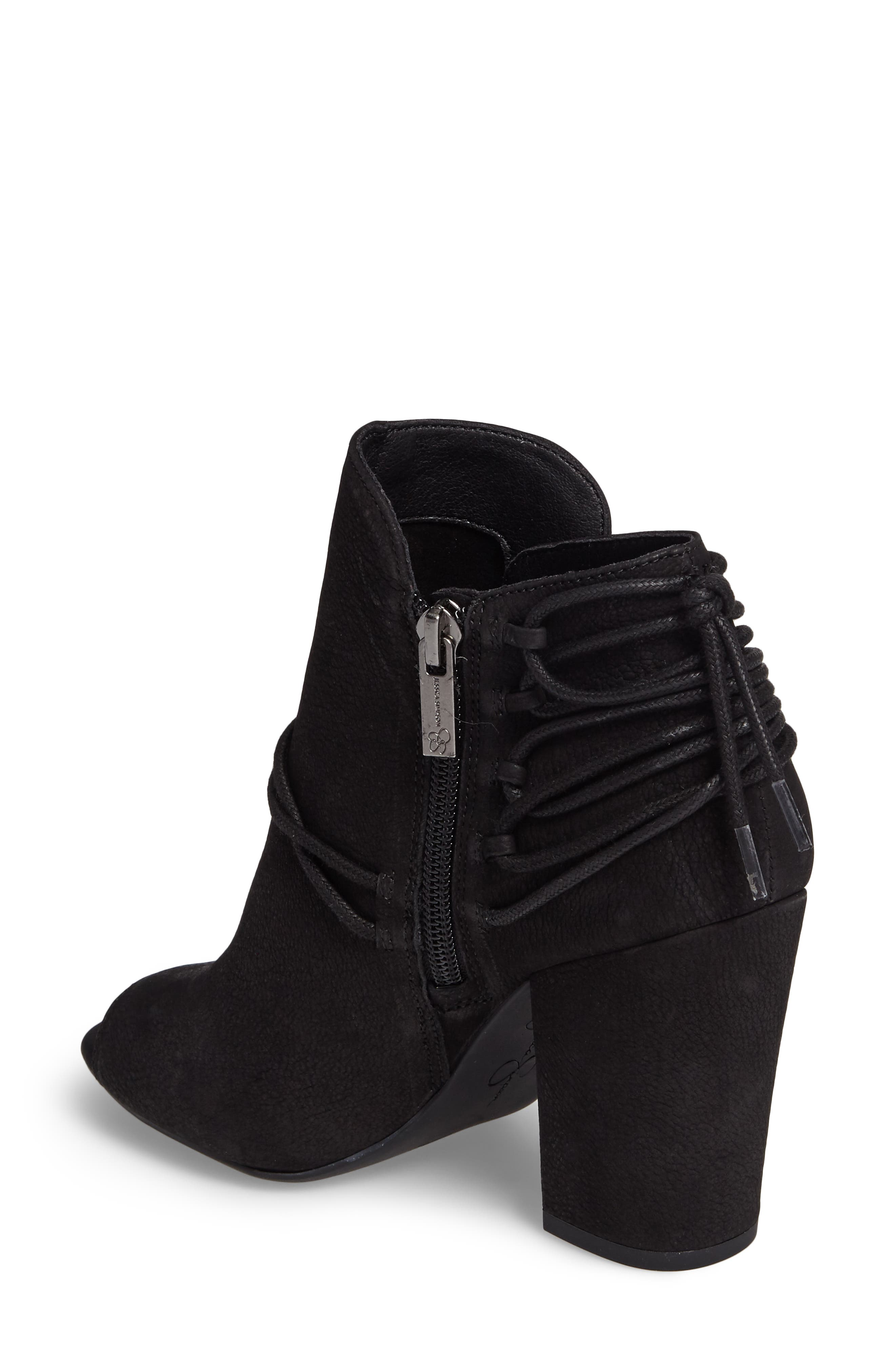 Remni Peep Toe Bootie,                             Alternate thumbnail 2, color,                             001