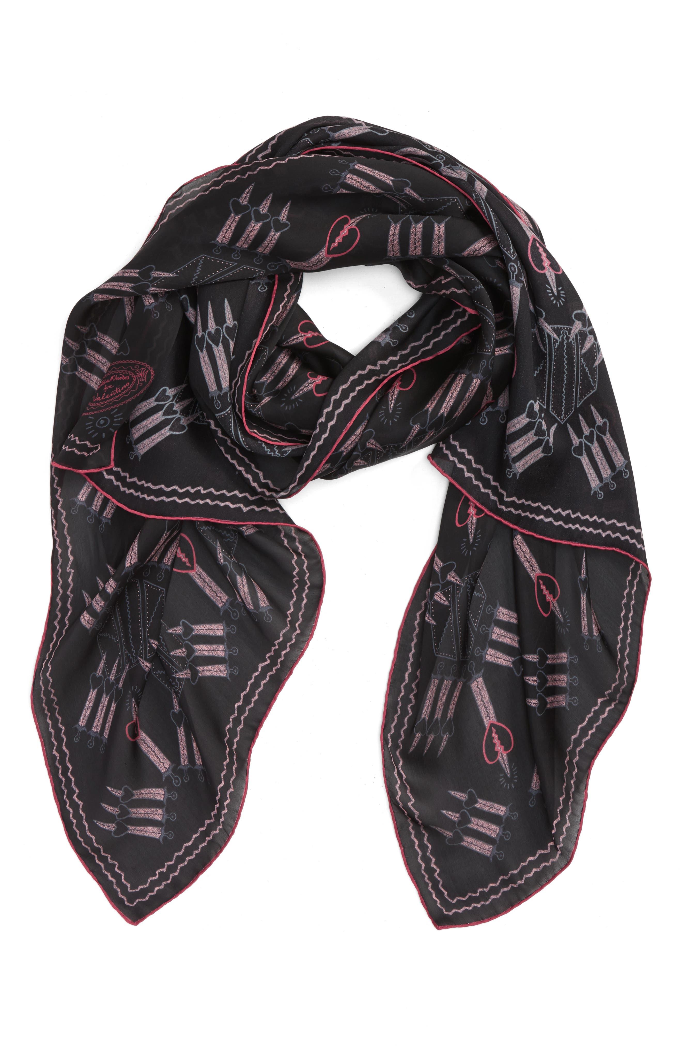 Loveblade Silk Scarf,                         Main,                         color, 001