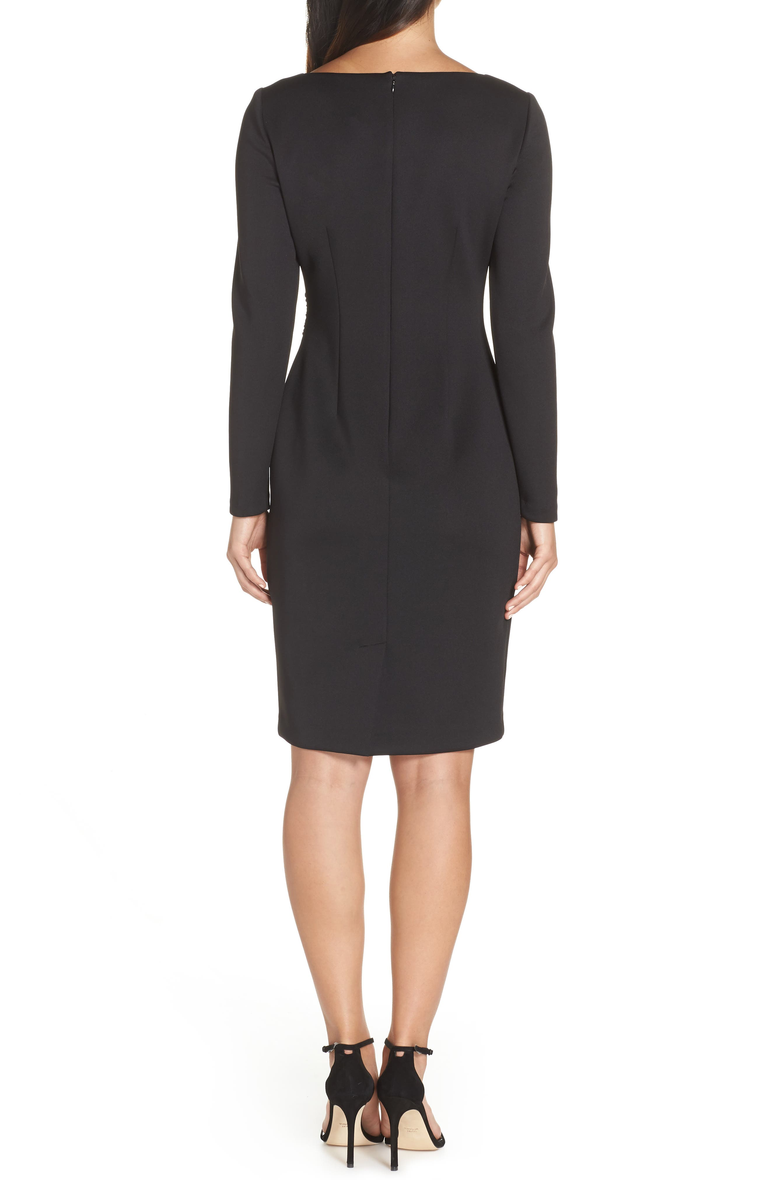Contrast Dress,                             Alternate thumbnail 2, color,                             BLACK