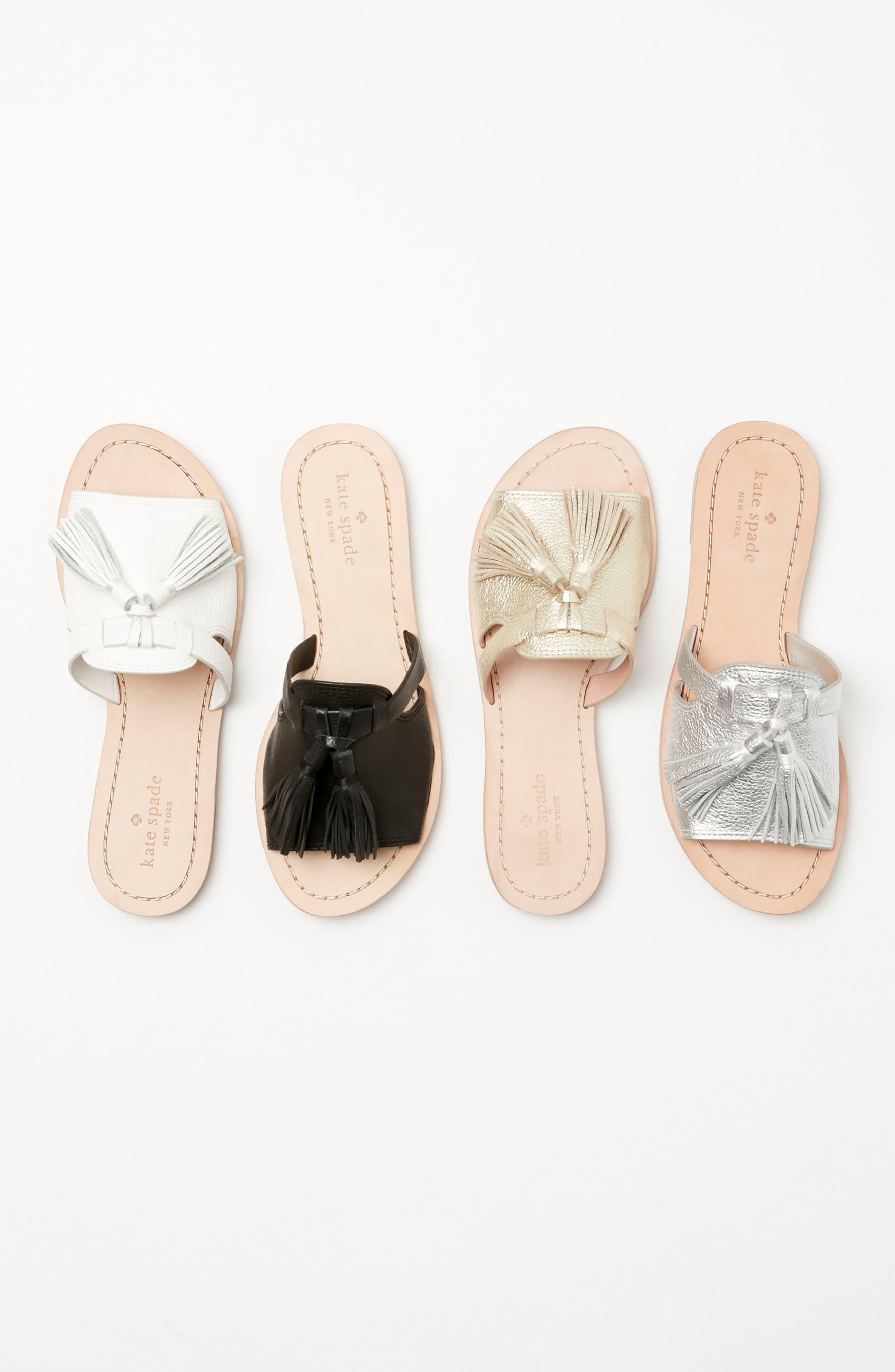 coby tassel slide sandal,                             Alternate thumbnail 7, color,                             001