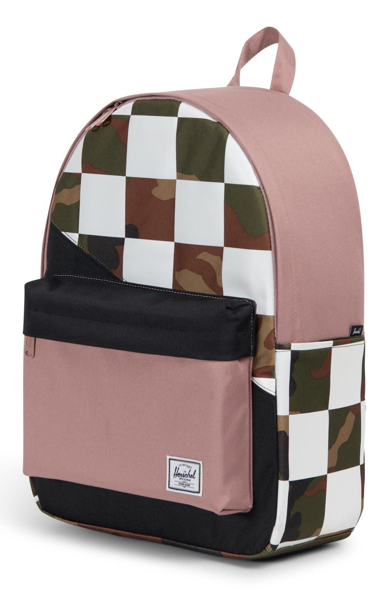 Classic Kaleidoscope Backpack,                             Alternate thumbnail 5, color,                             WOODLAND/ ASH ROSE/ CHECKER