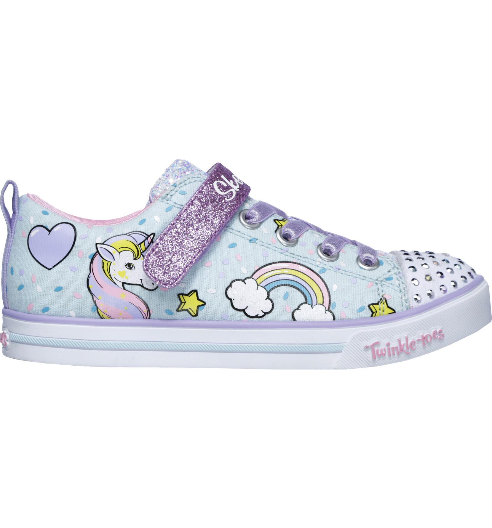 61f3f428ac16 SKECHERS Twinkle Toes Unicorn Light-Up Sneaker (Walker