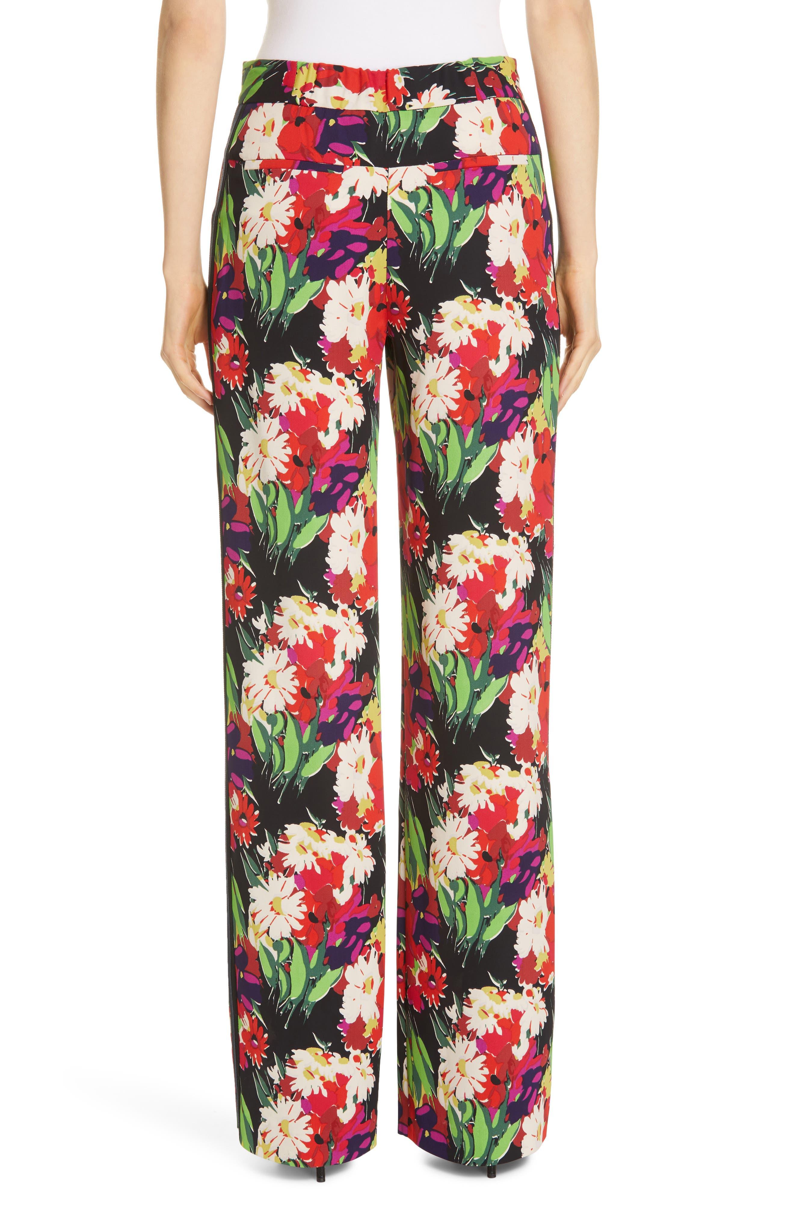 VERONICA BEARD,                             Grigore Floral Print Wide Leg Pants,                             Alternate thumbnail 2, color,                             BLACK MULTI