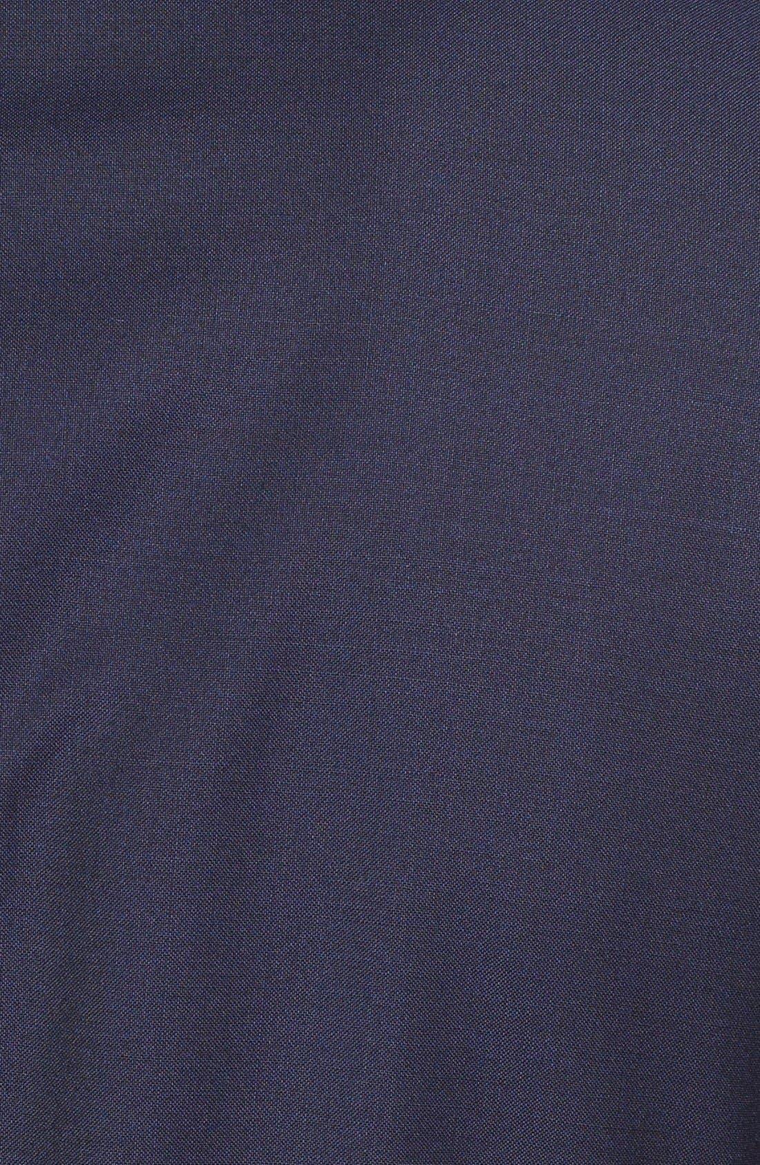 Huge/Genius Trim Fit Navy Wool Suit,                             Alternate thumbnail 9, color,                             NAVY