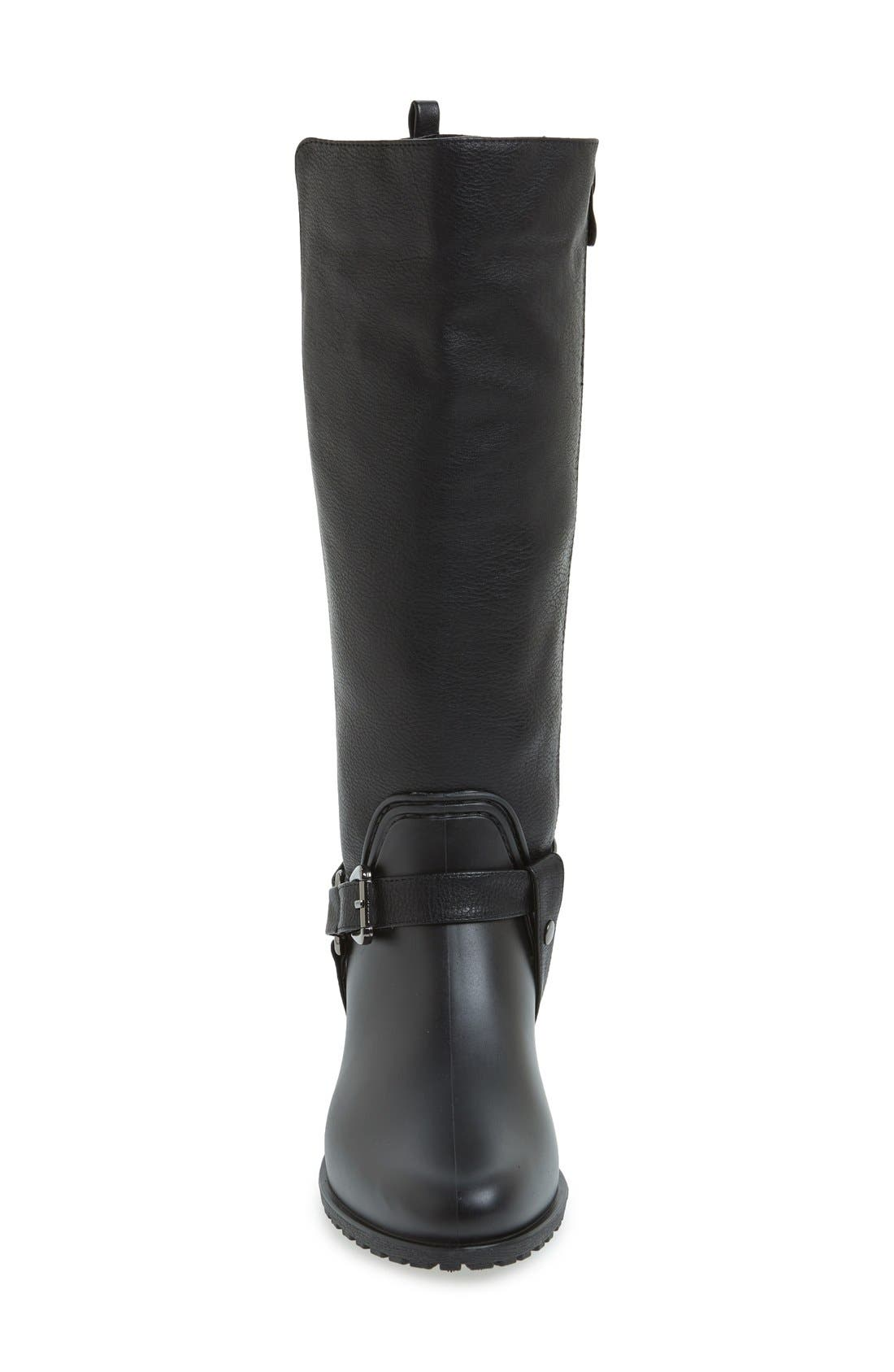 'Kingston' Water Resistant Sparkle Boot,                             Alternate thumbnail 3, color,                             BLACK