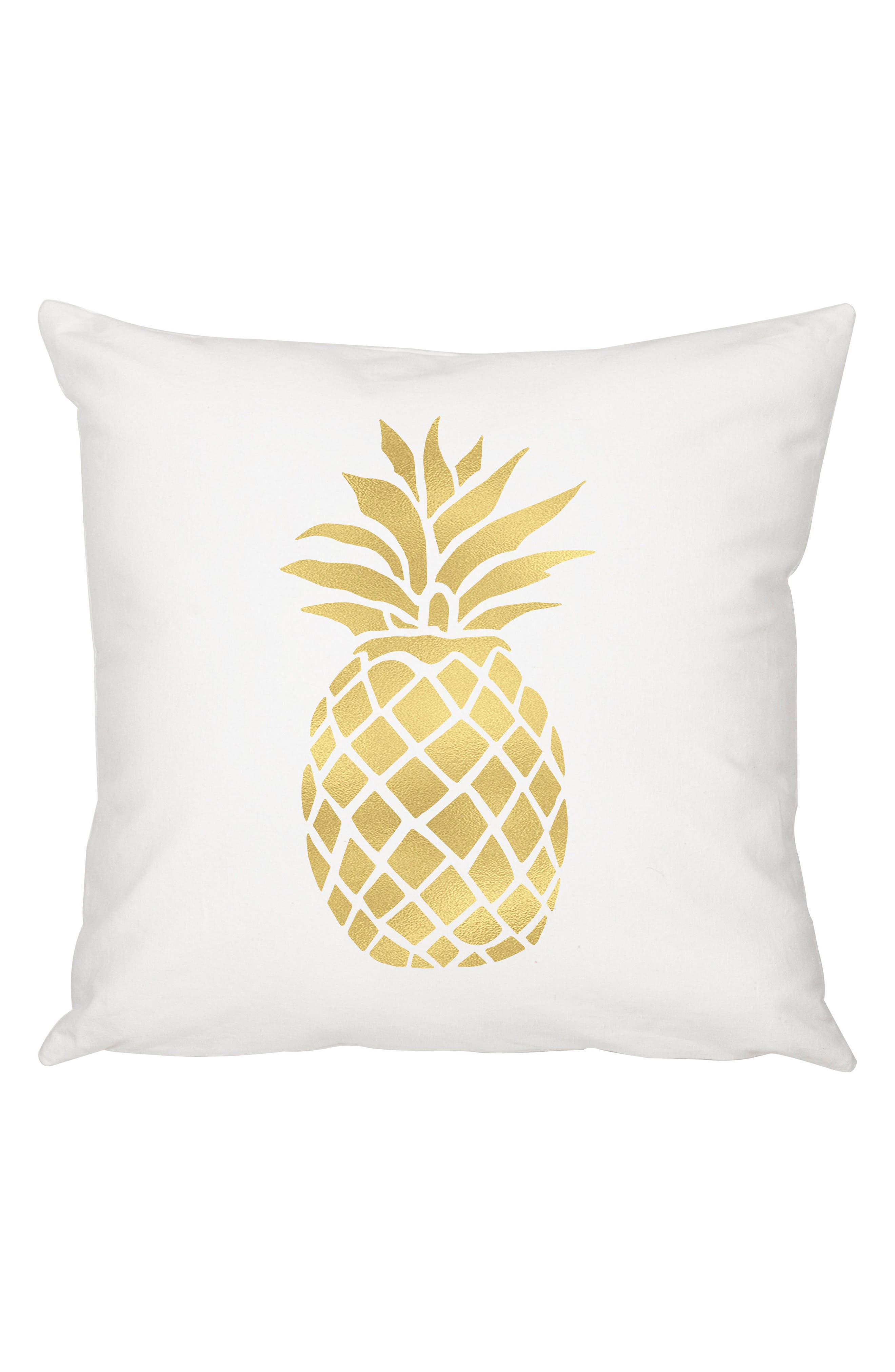 Pineapple Accent Pillow,                             Main thumbnail 1, color,                             GOLD
