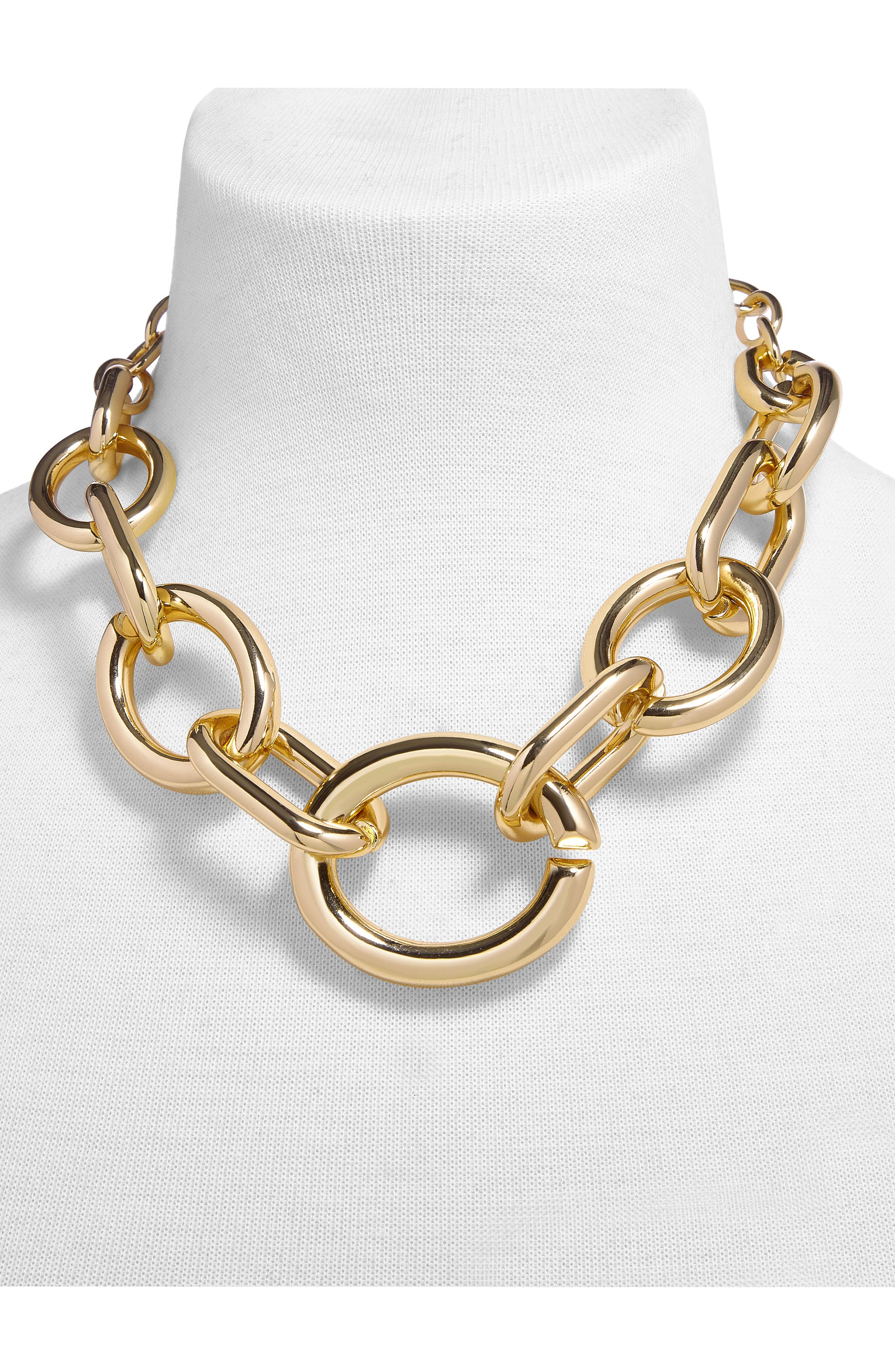 Mardie Linked Statement Necklace,                             Alternate thumbnail 2, color,                             719