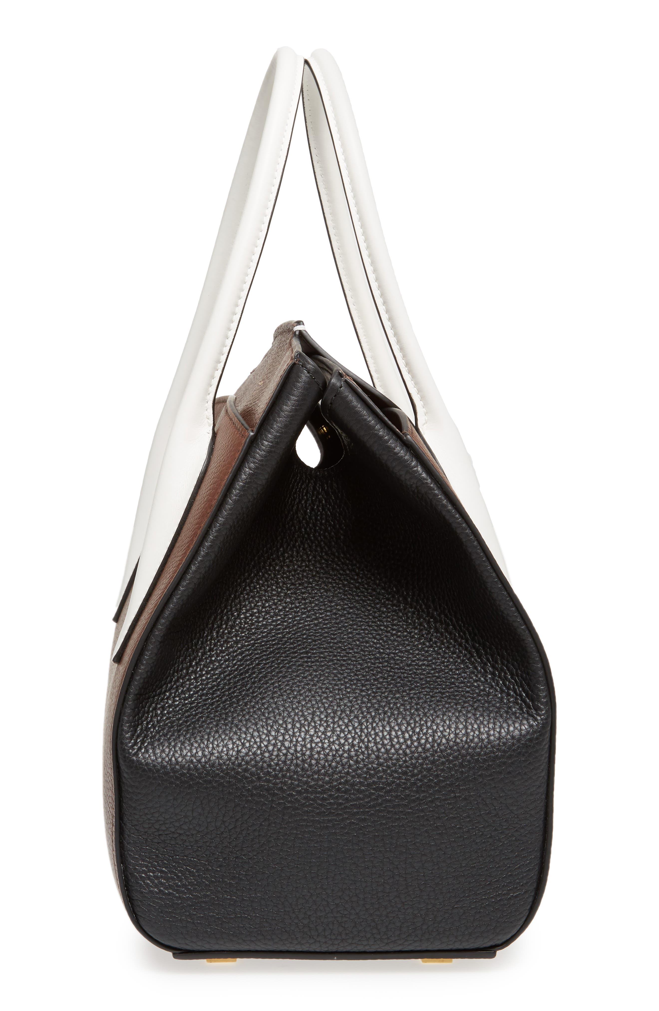 Large Bancroft Tricolor Leather Top Handle Satchel,                             Alternate thumbnail 5, color,                             210